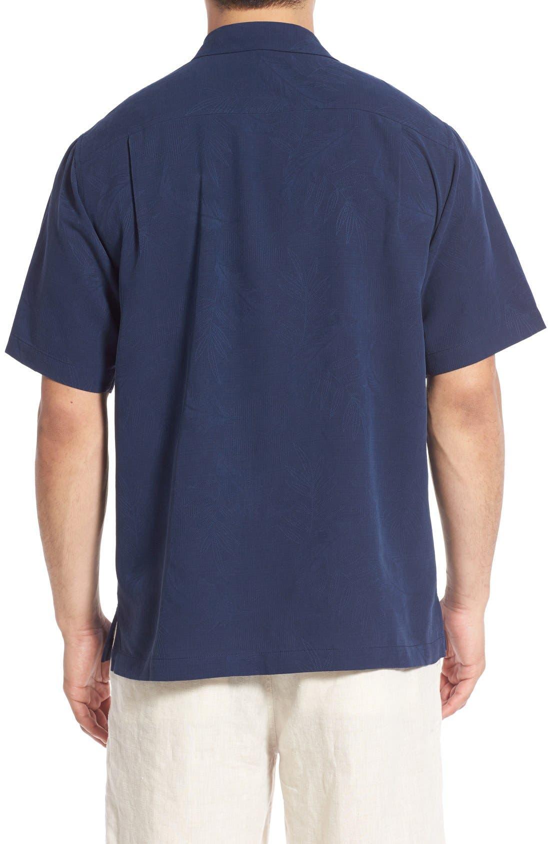 Rio Fronds Short Sleeve Silk Sport Shirt,                             Alternate thumbnail 25, color,