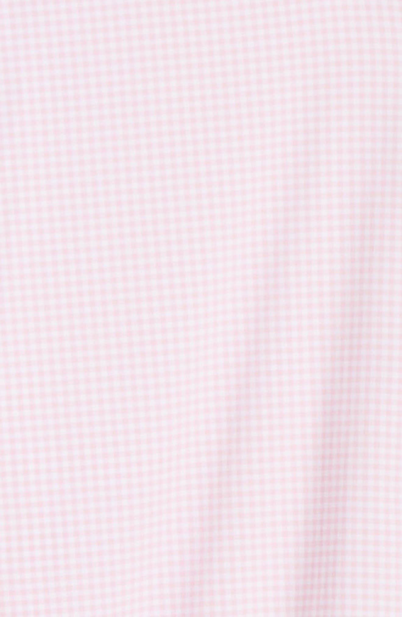 Check Performance Sport Shirt,                             Alternate thumbnail 6, color,                             PALMER PINK