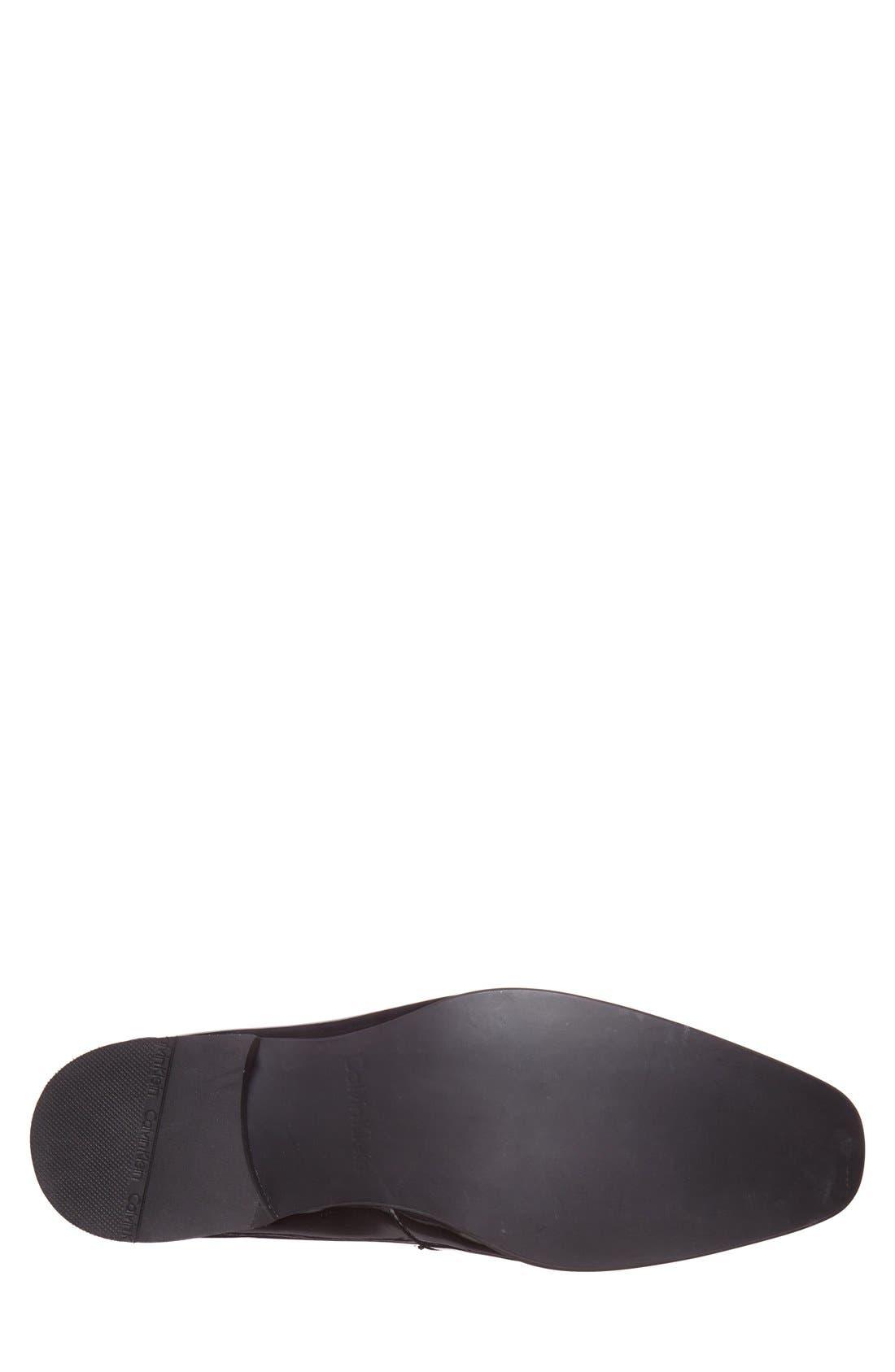 CALVIN KLEIN,                             'Bernard' Venetian Loafer,                             Alternate thumbnail 2, color,                             BLACK