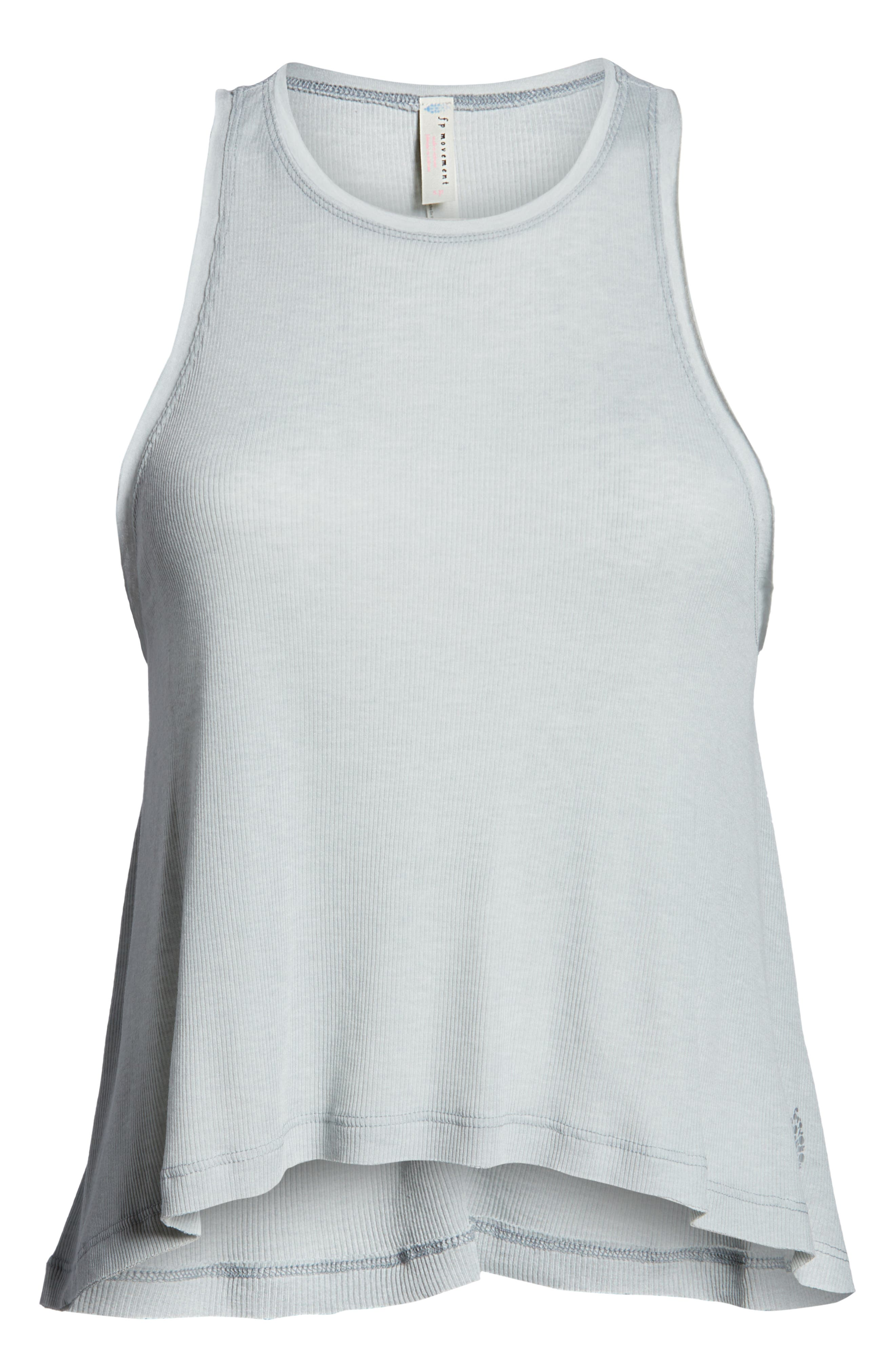 FREE PEOPLE MOVEMENT,                             Free People FP Movement The Rise & Fall Tank,                             Alternate thumbnail 7, color,                             GREY