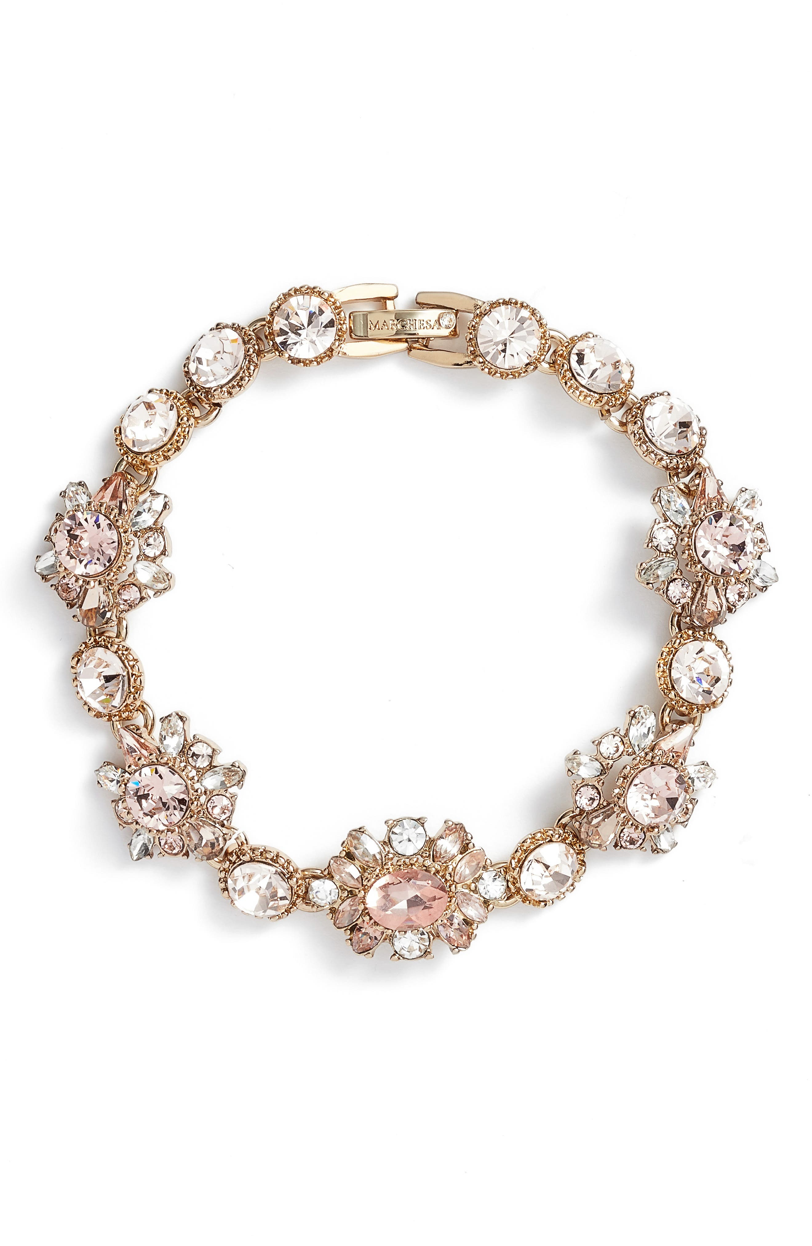Line Bracelet,                             Main thumbnail 1, color,                             GOLD/ VINTAGE ROSE