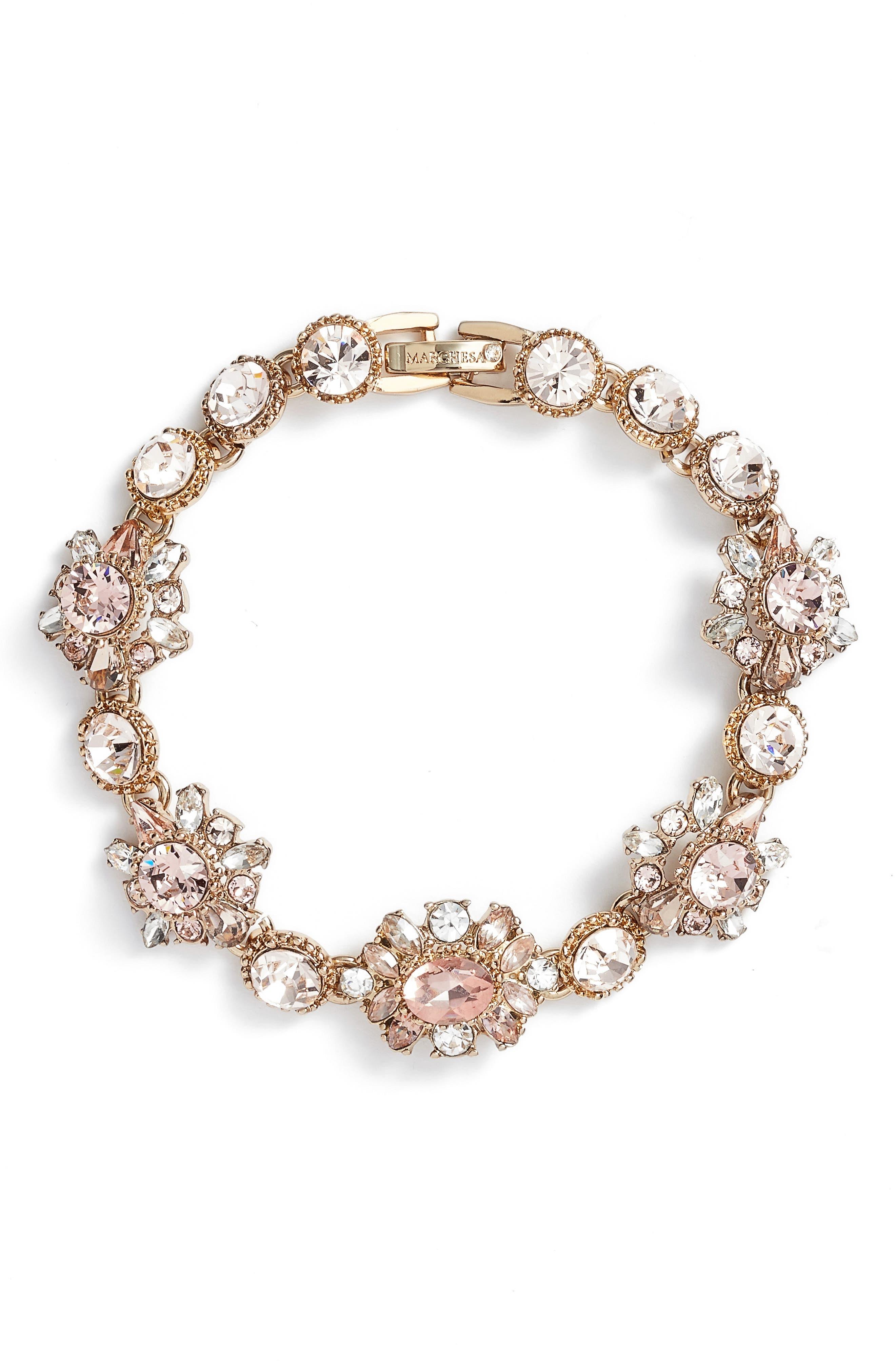 Line Bracelet,                         Main,                         color, GOLD/ VINTAGE ROSE