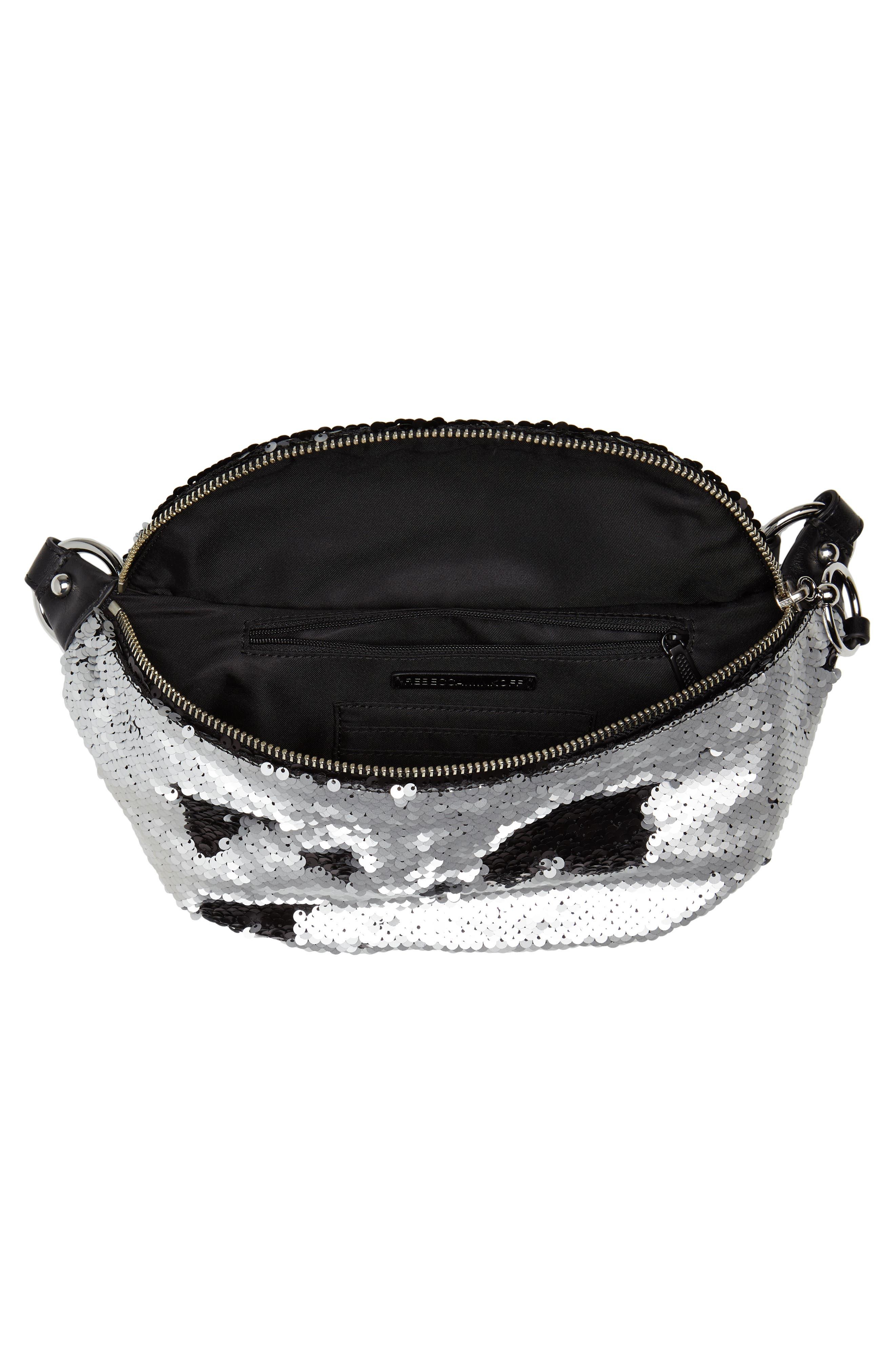 Sequin Belt Bag,                             Alternate thumbnail 5, color,                             SILVER