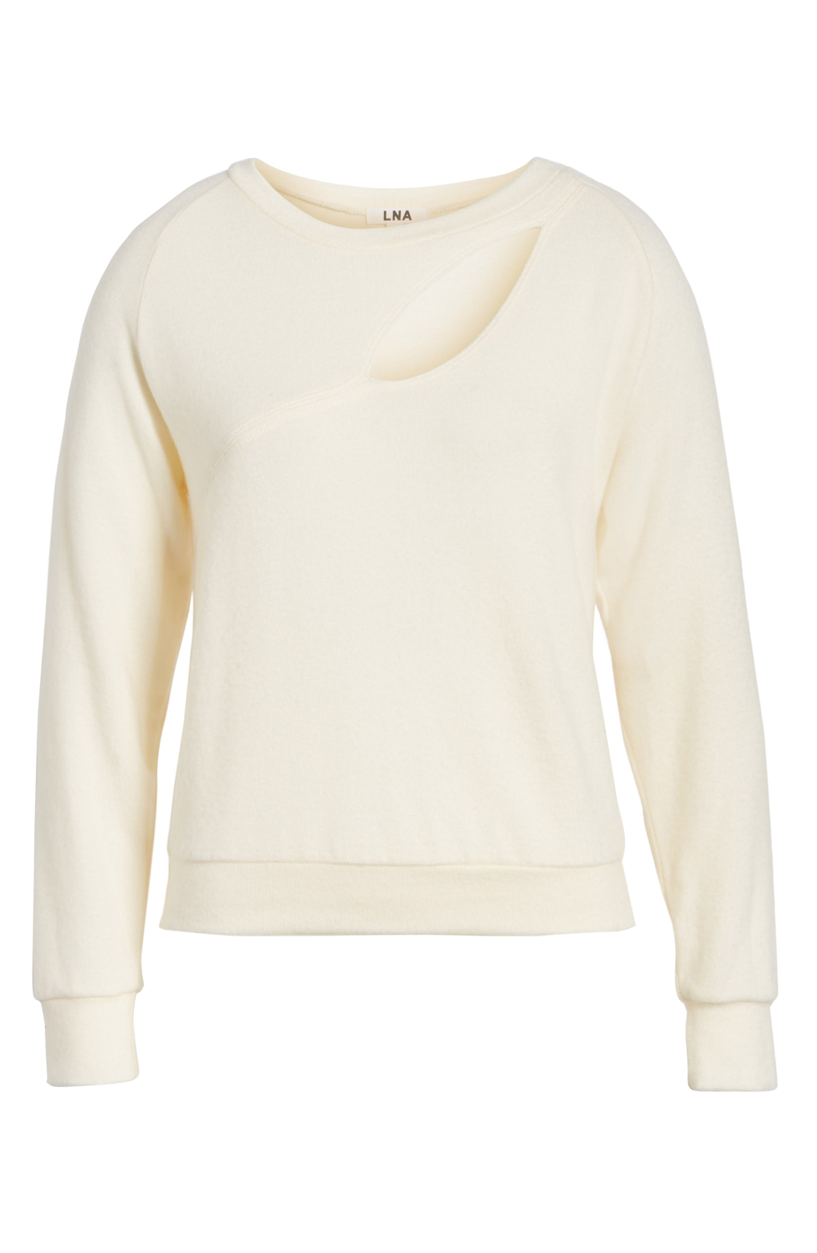Phased Brushed Cutout Sweater,                             Alternate thumbnail 6, color,                             250