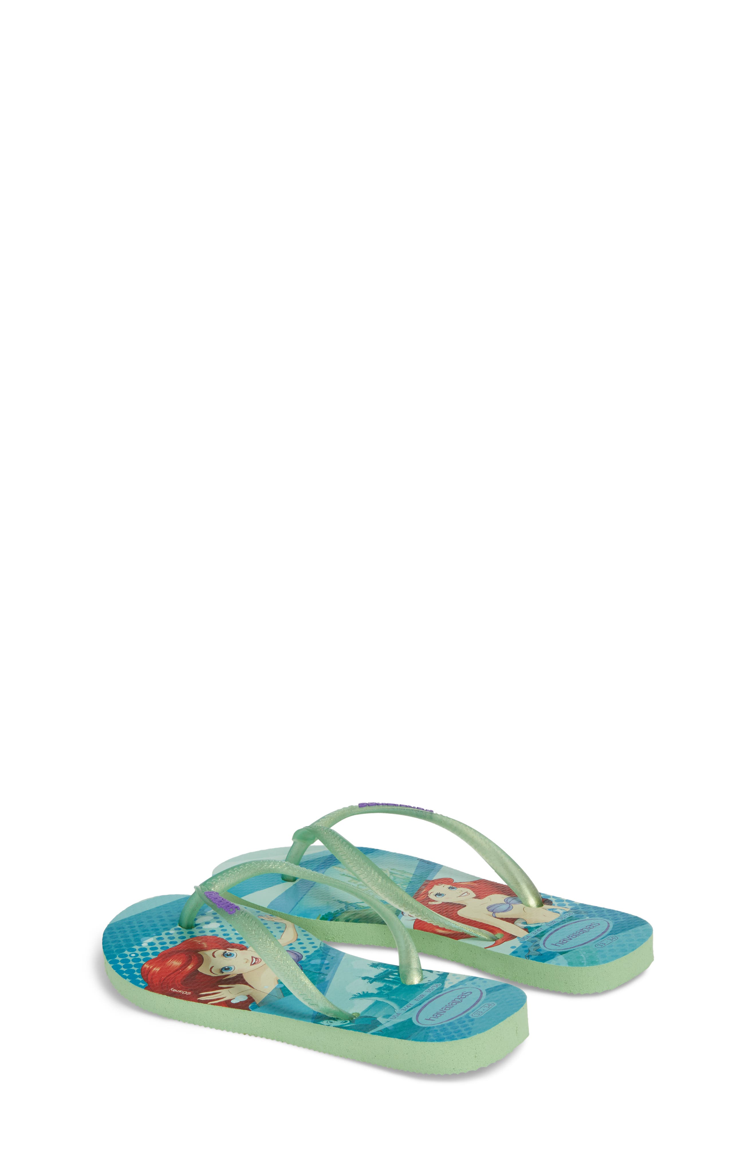 'Disney Princess' Flip Flops,                             Alternate thumbnail 3, color,                             301