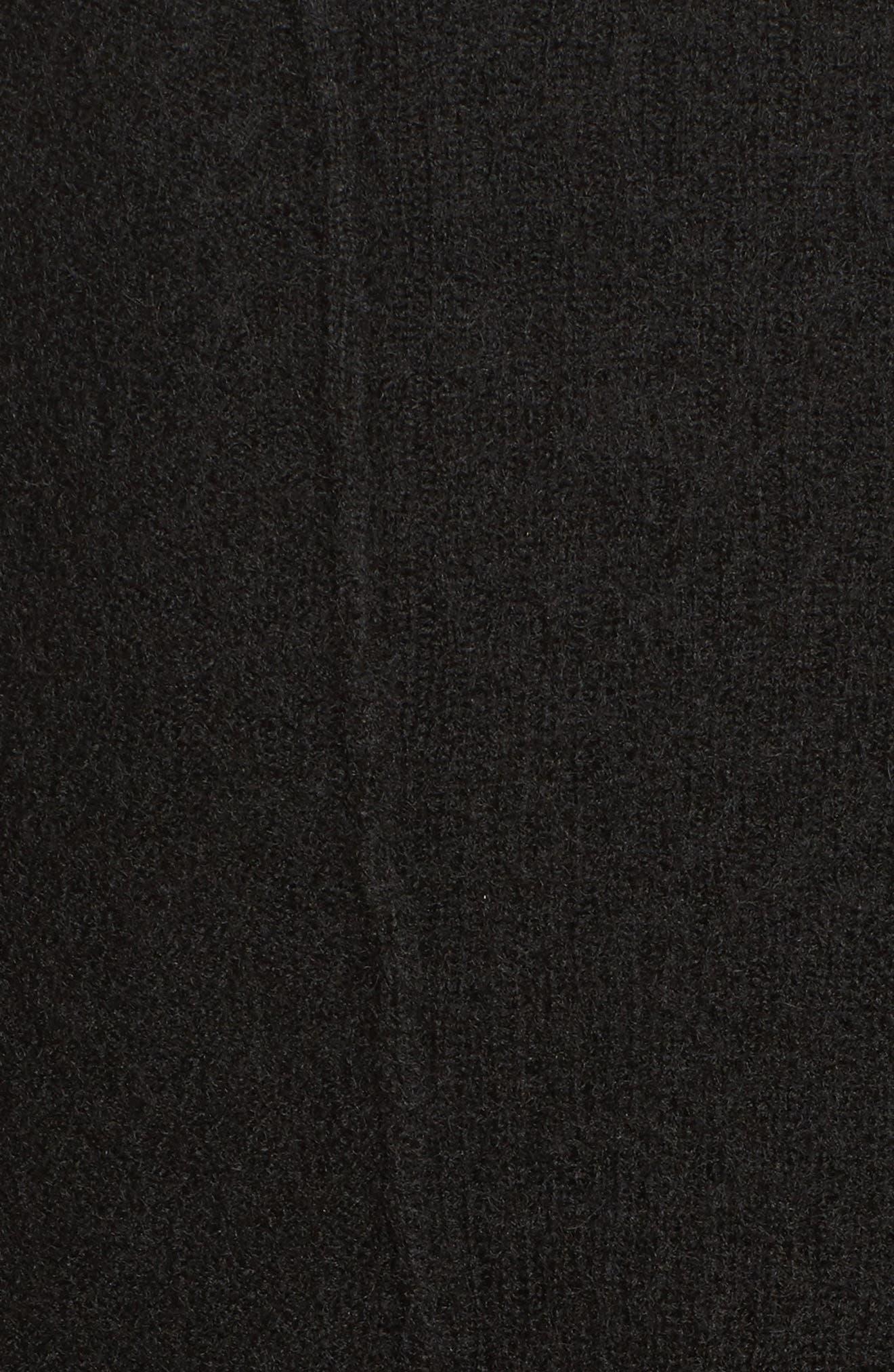 Knit Sweater Coat,                             Alternate thumbnail 5, color,                             001