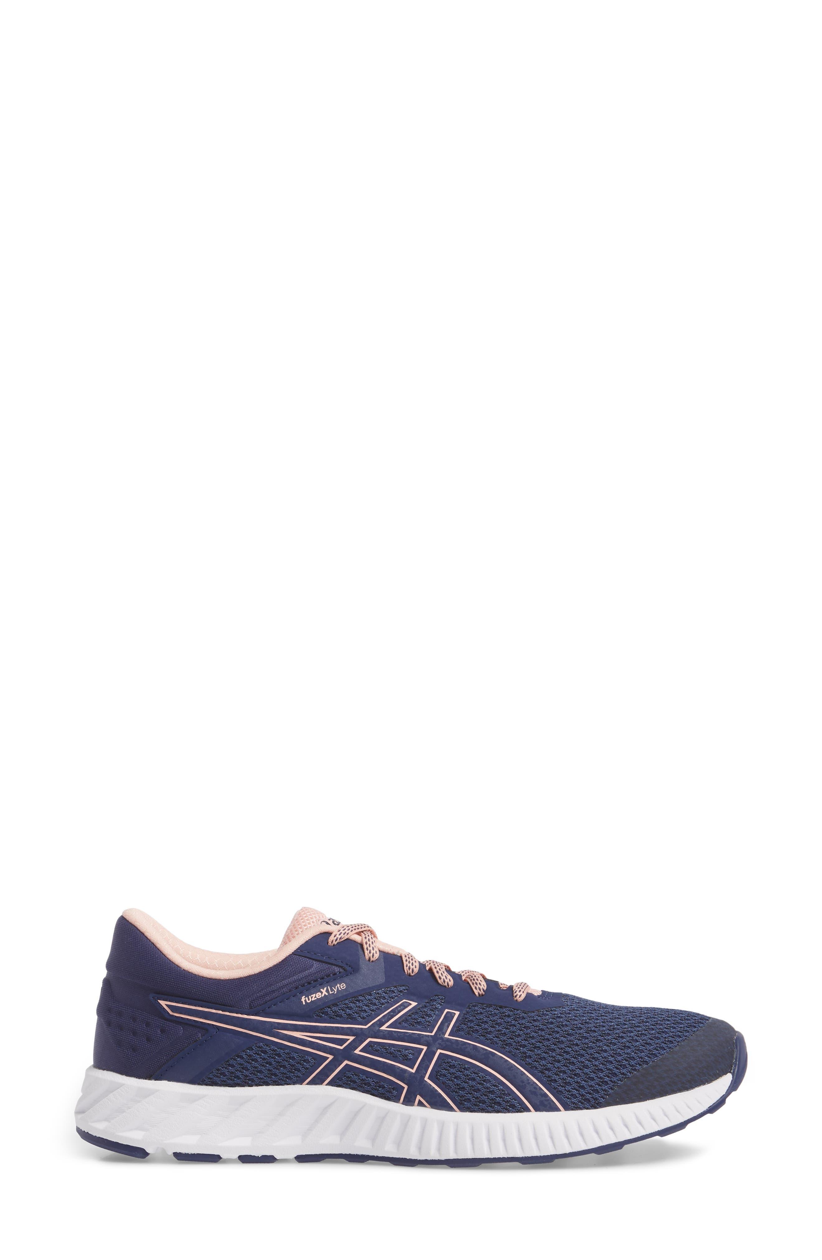 FuzeX Lyte 2 Running Shoe,                             Alternate thumbnail 3, color,                             INDIGO BLUE/ FROSTED ROSE
