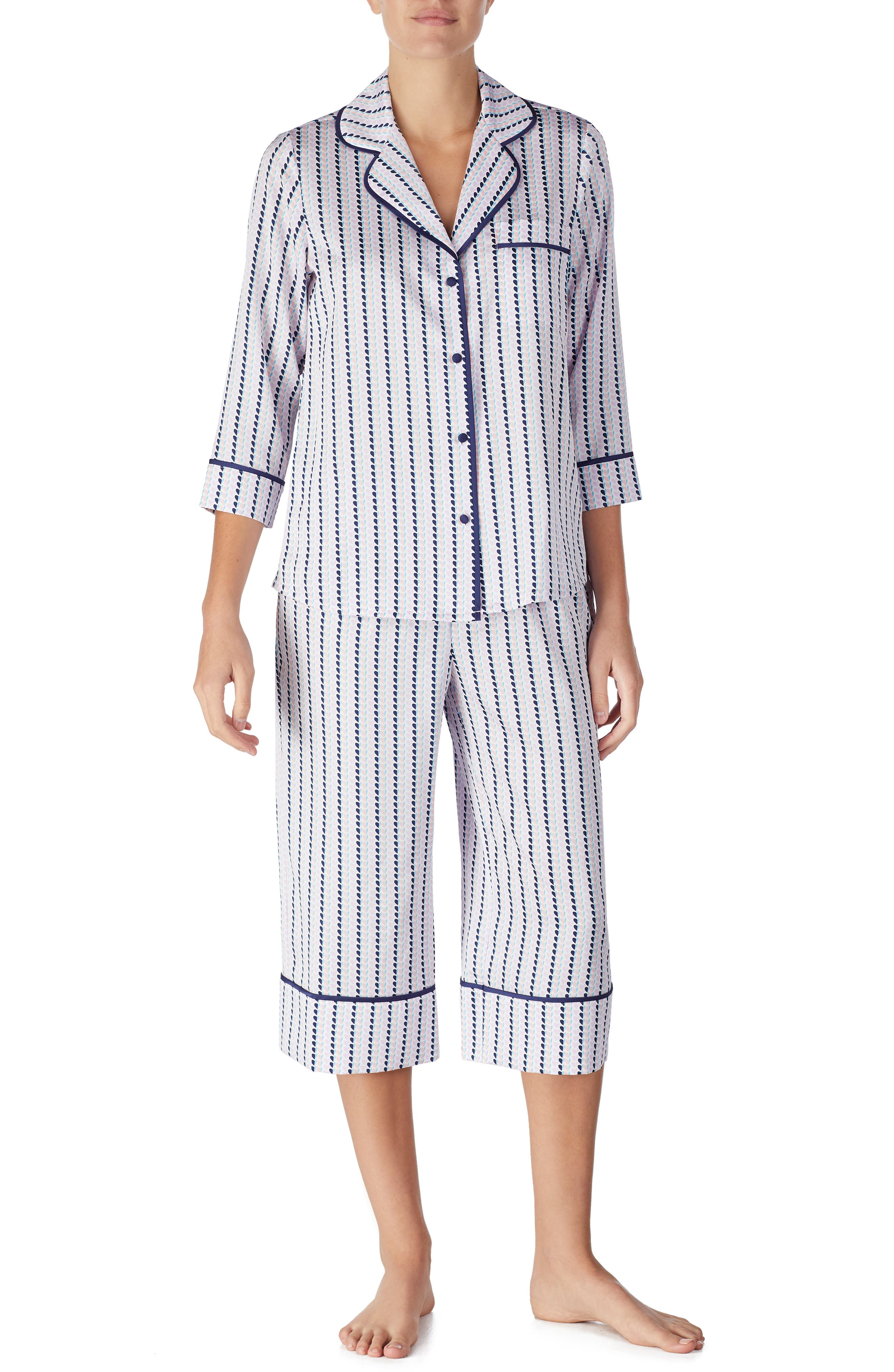 Kate Spade New York Crop Pajamas, Pink