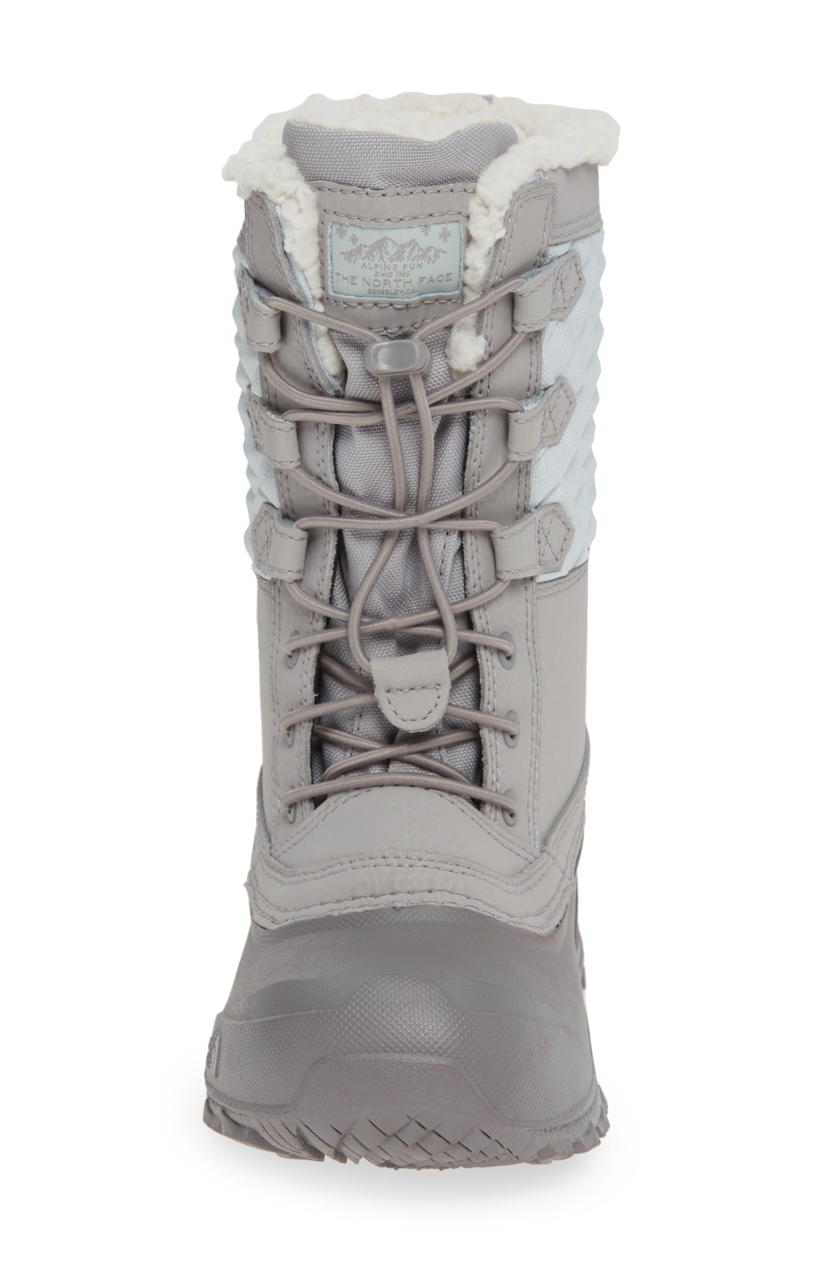 Shellista Lace III Faux Fur Waterproof Boot,                             Alternate thumbnail 4, color,                             030