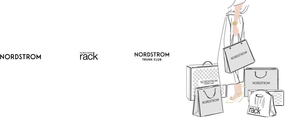 At Nordstrom, Nordstrom Rack and Nordstrom Trunk Club.