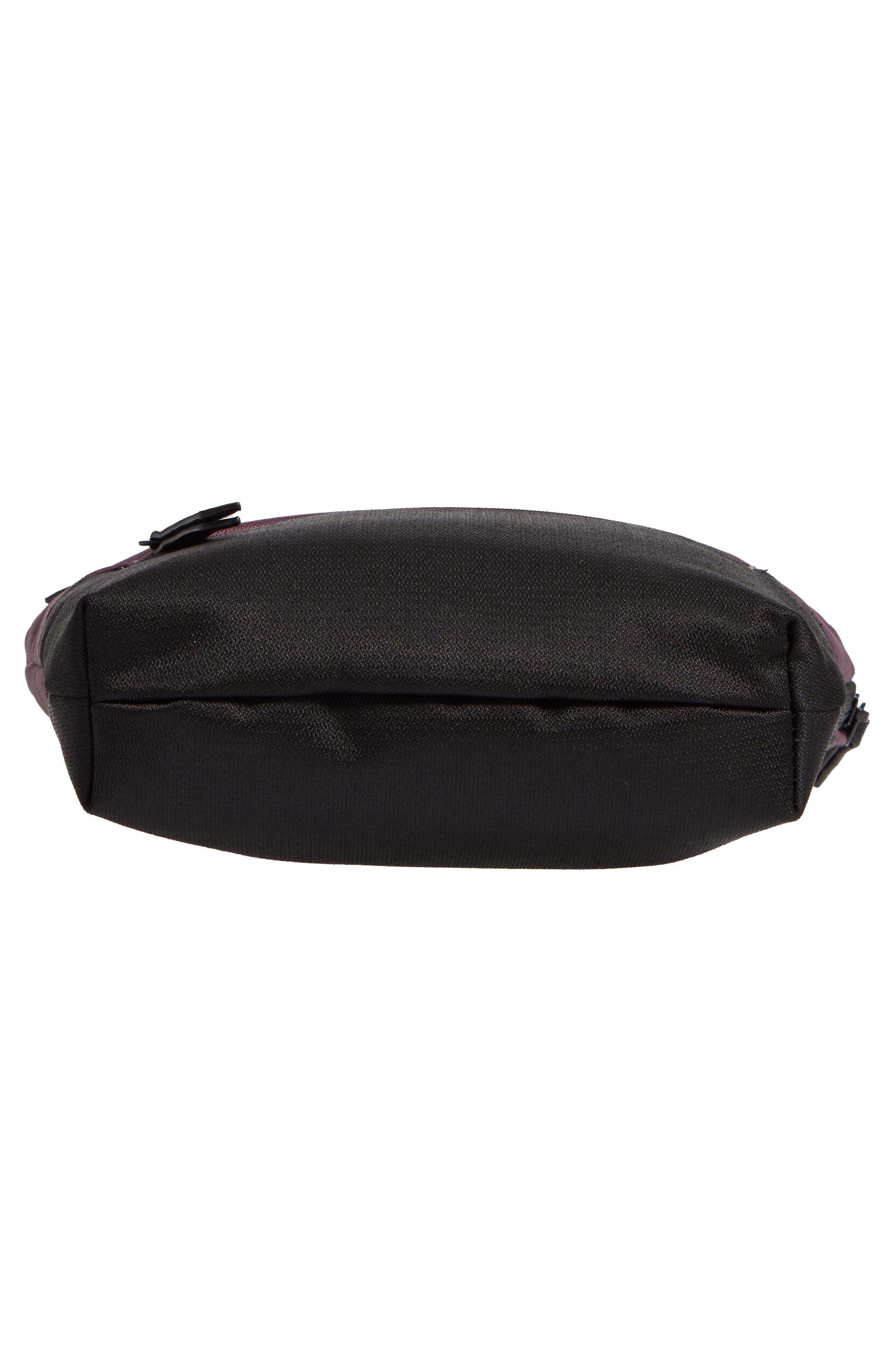 Sadie Medium RFID Crossbody Bag,                             Alternate thumbnail 6, color,                             PURPLE DAHLIA/ BLACK