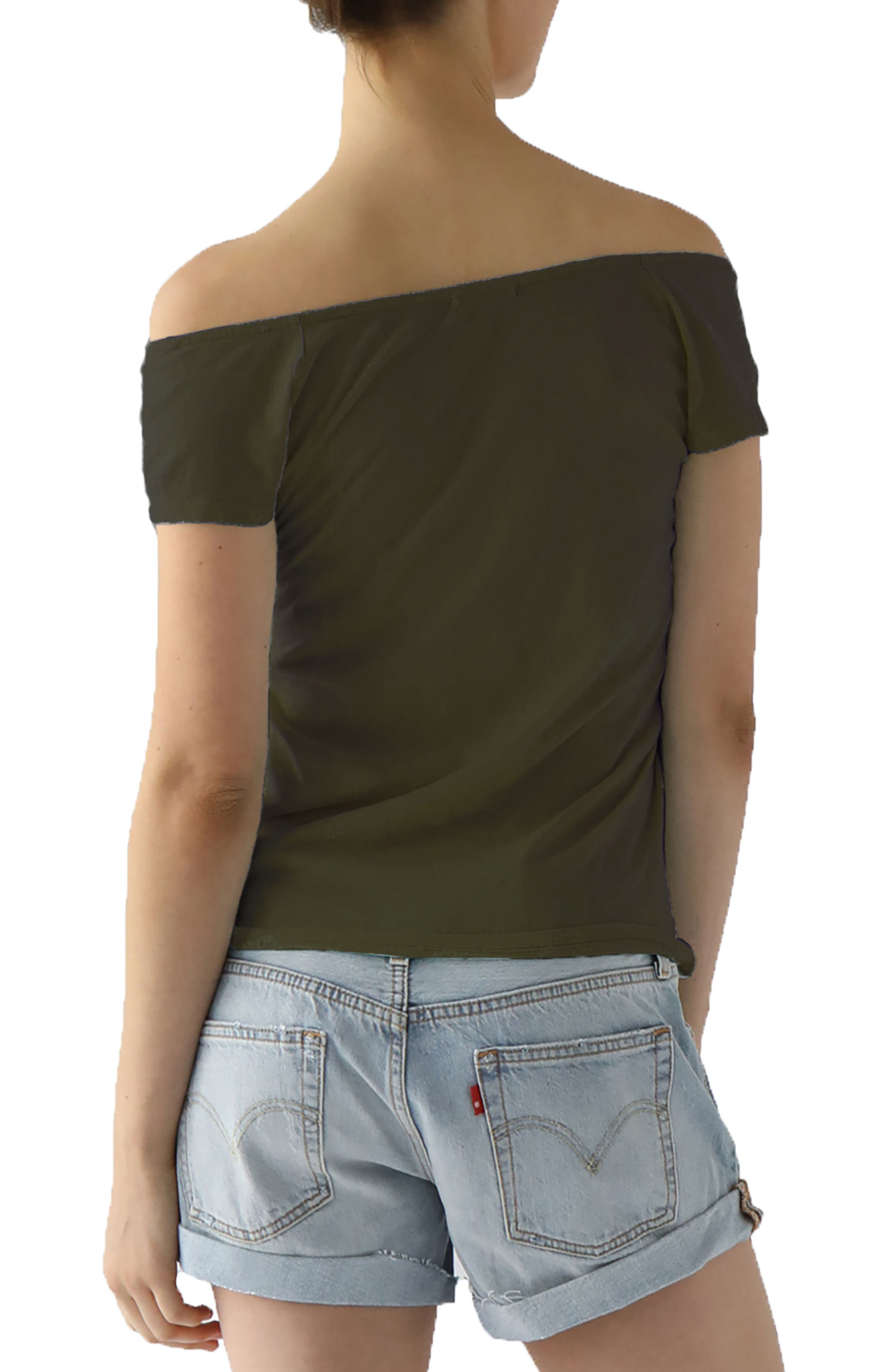 Imelda Tissue Jersey Off the Shoulder Tee,                             Alternate thumbnail 8, color,