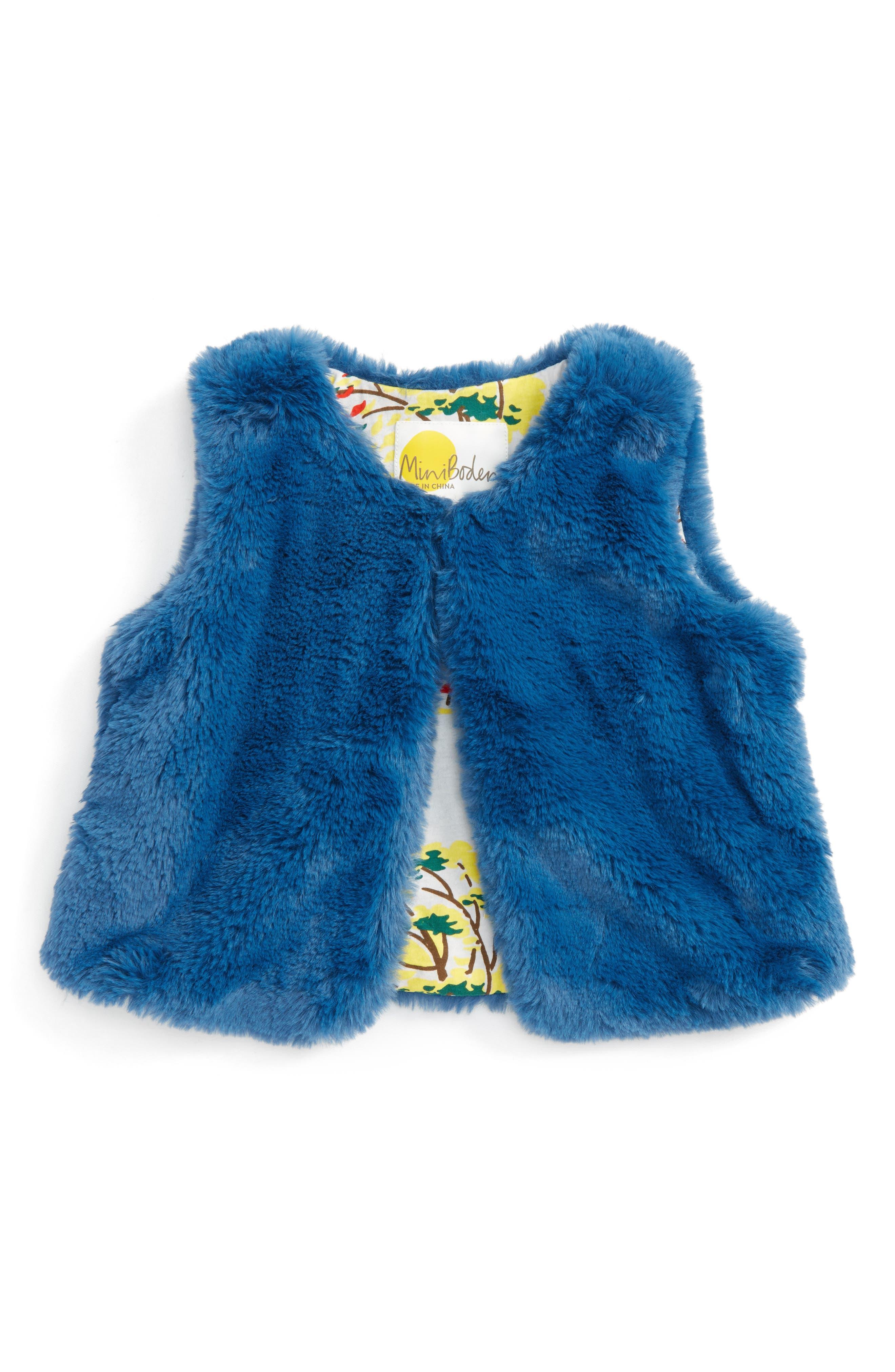 Party Faux Fur Vest,                             Main thumbnail 1, color,                             424