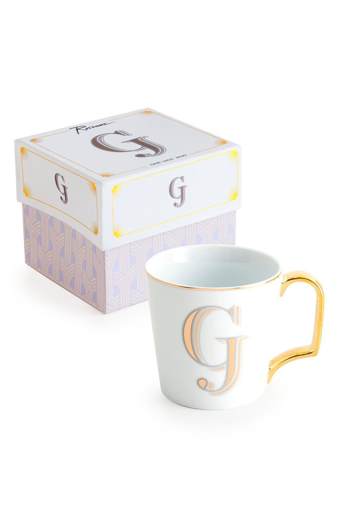 Monogram Porcelain Coffee Mug,                             Main thumbnail 6, color,