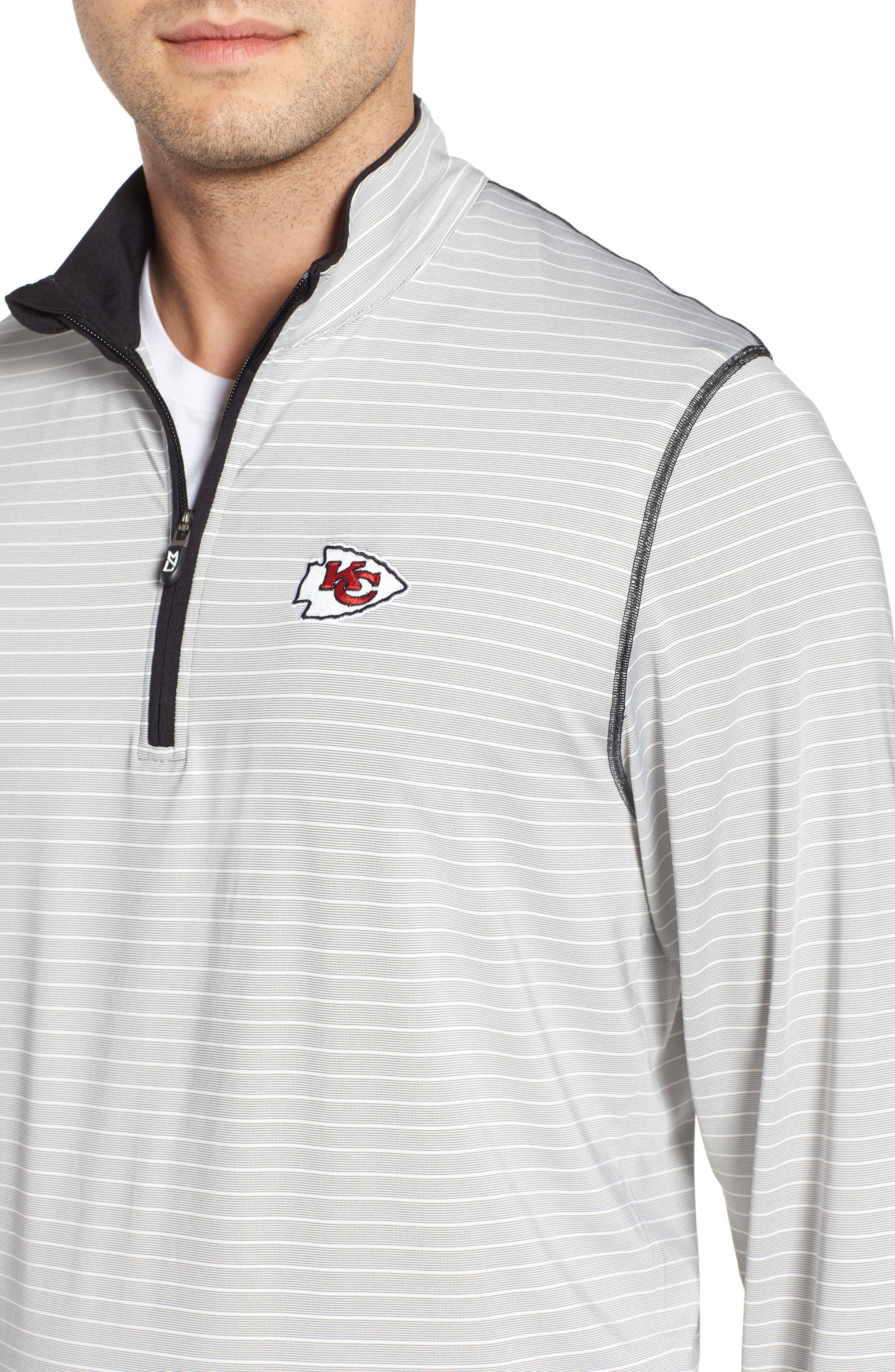 Meridian - Kansas City Chiefs Regular Fit Half Zip Pullover,                             Alternate thumbnail 4, color,                             BLACK