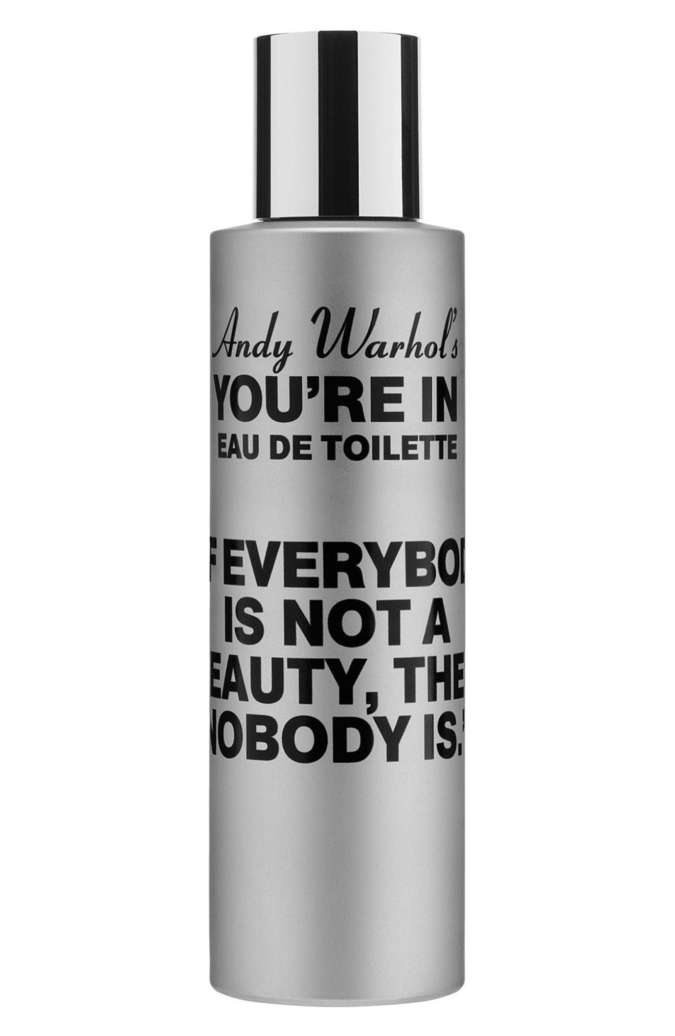 Andy Warhol You're In Unisex Eau de Toilette,                             Main thumbnail 1, color,                             IF EVERYBODY IS