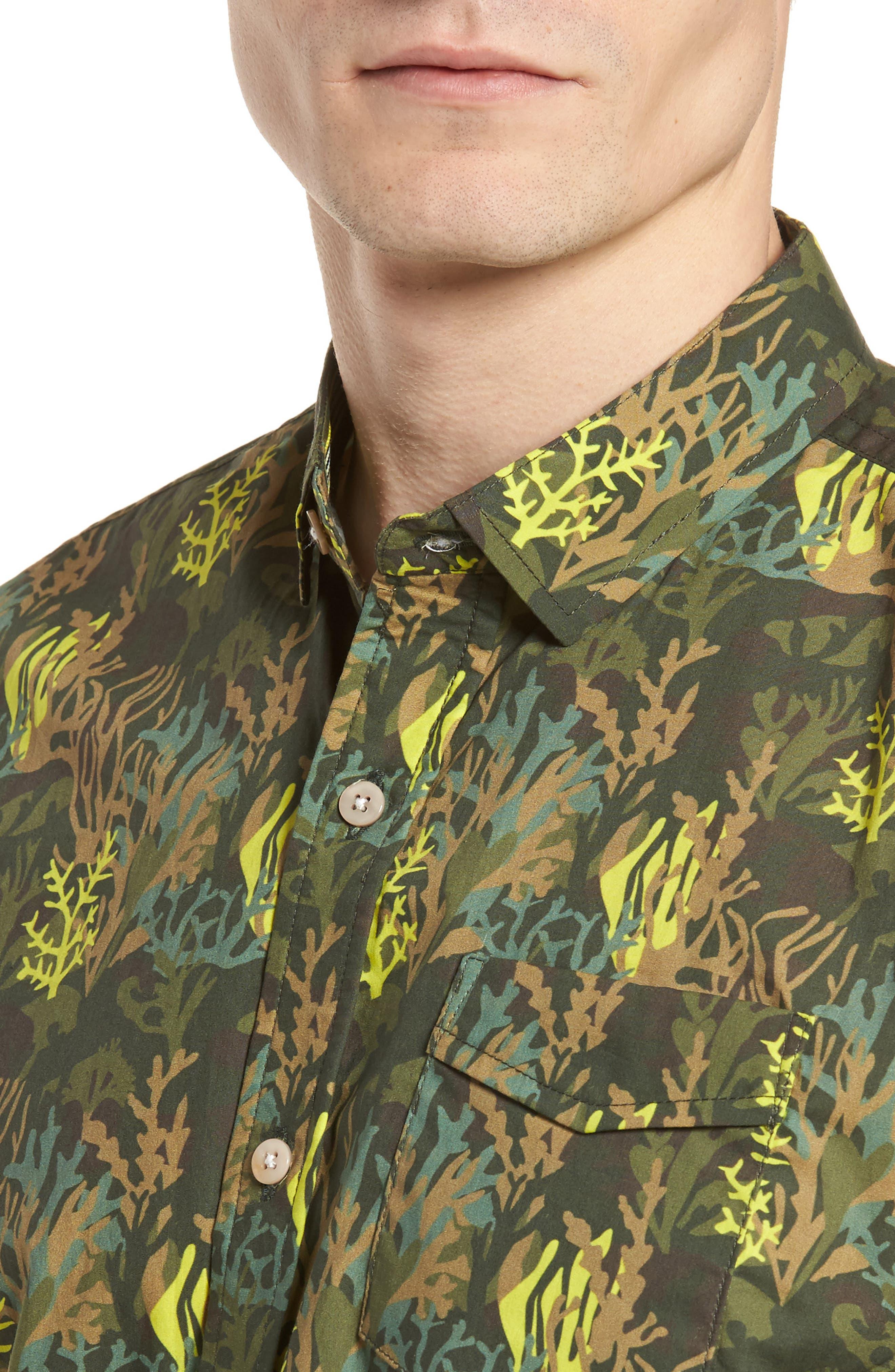 Bottom of The Ocean Woven Shirt,                             Alternate thumbnail 4, color,                             300