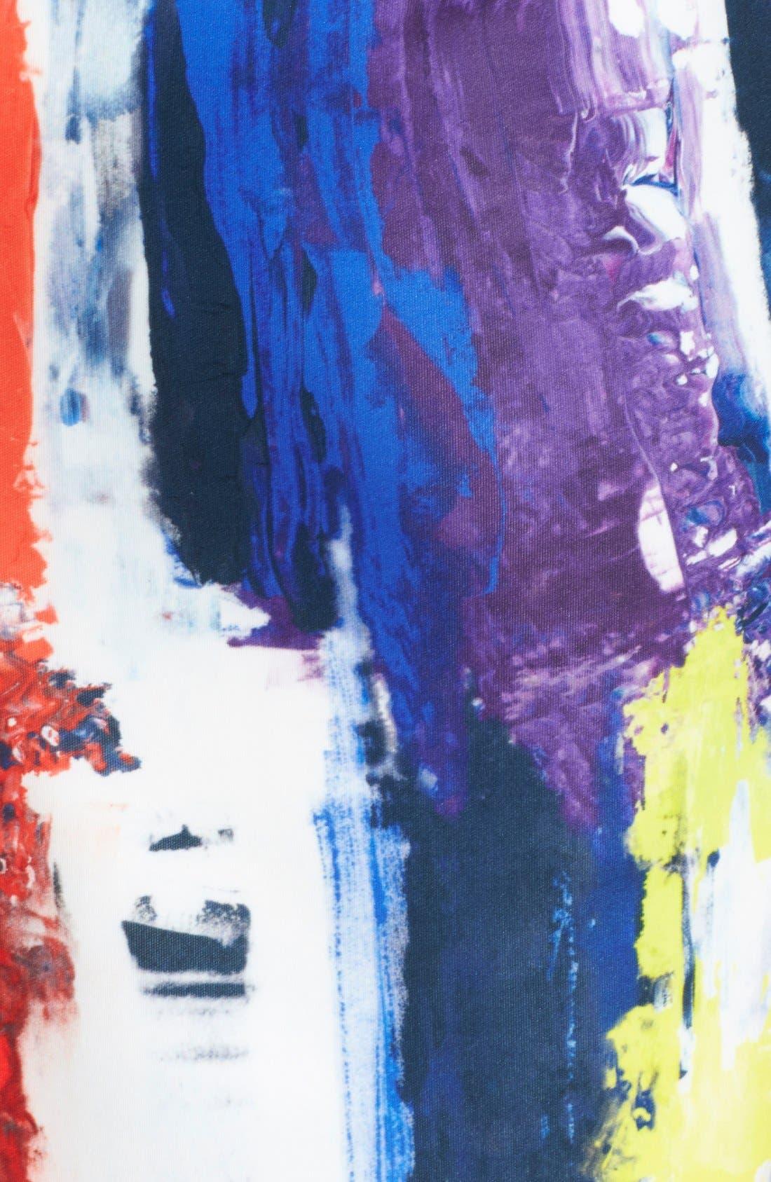 Graffiti Print Bustier Dress,                             Alternate thumbnail 2, color,                             464