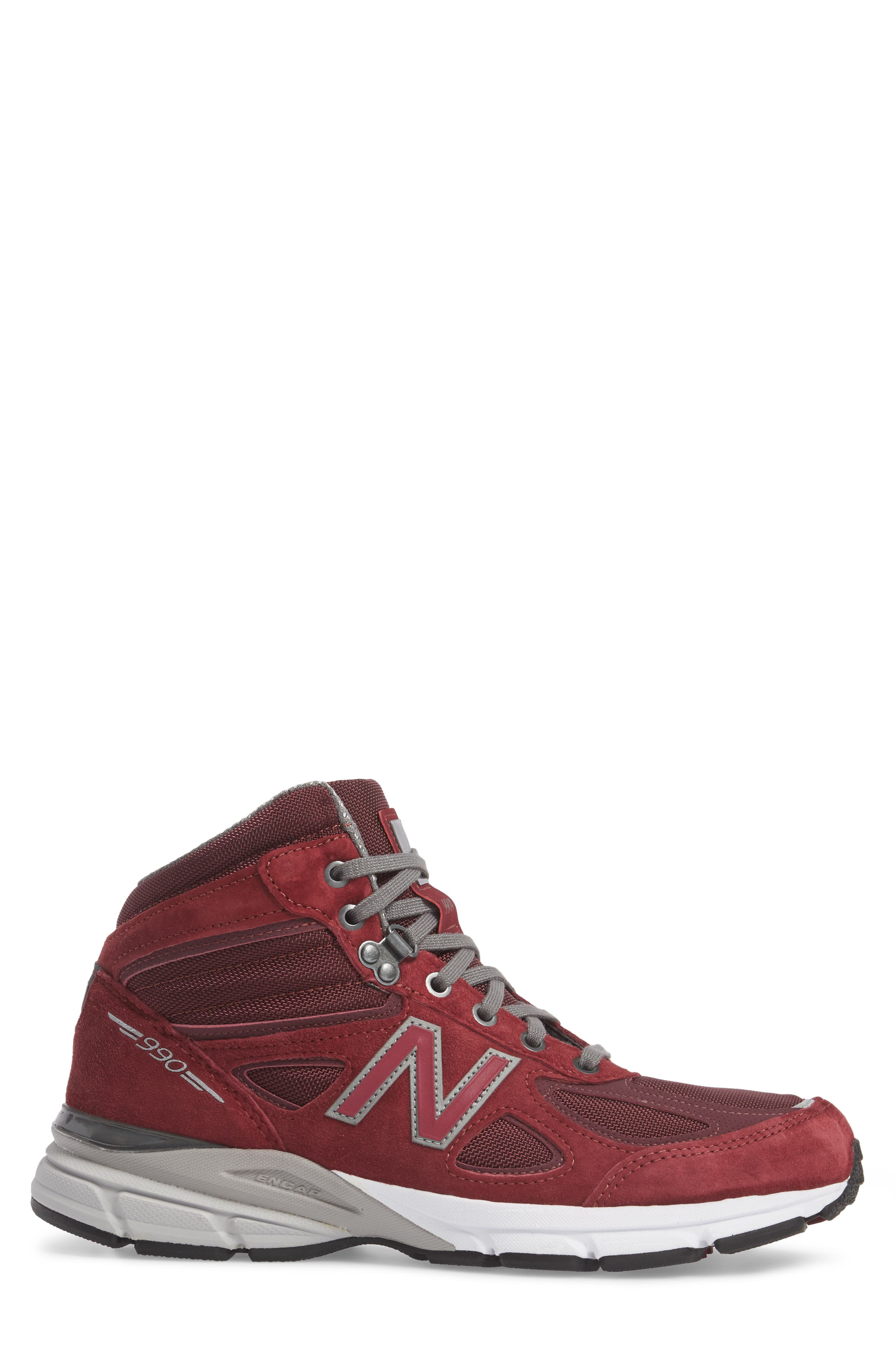 990v4 Water Resistant Sneaker Boot,                             Alternate thumbnail 3, color,                             932