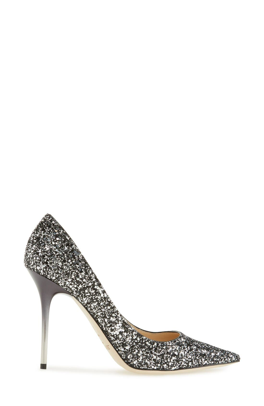 'Abel' Pointy Toe Pump,                             Alternate thumbnail 3, color,                             002