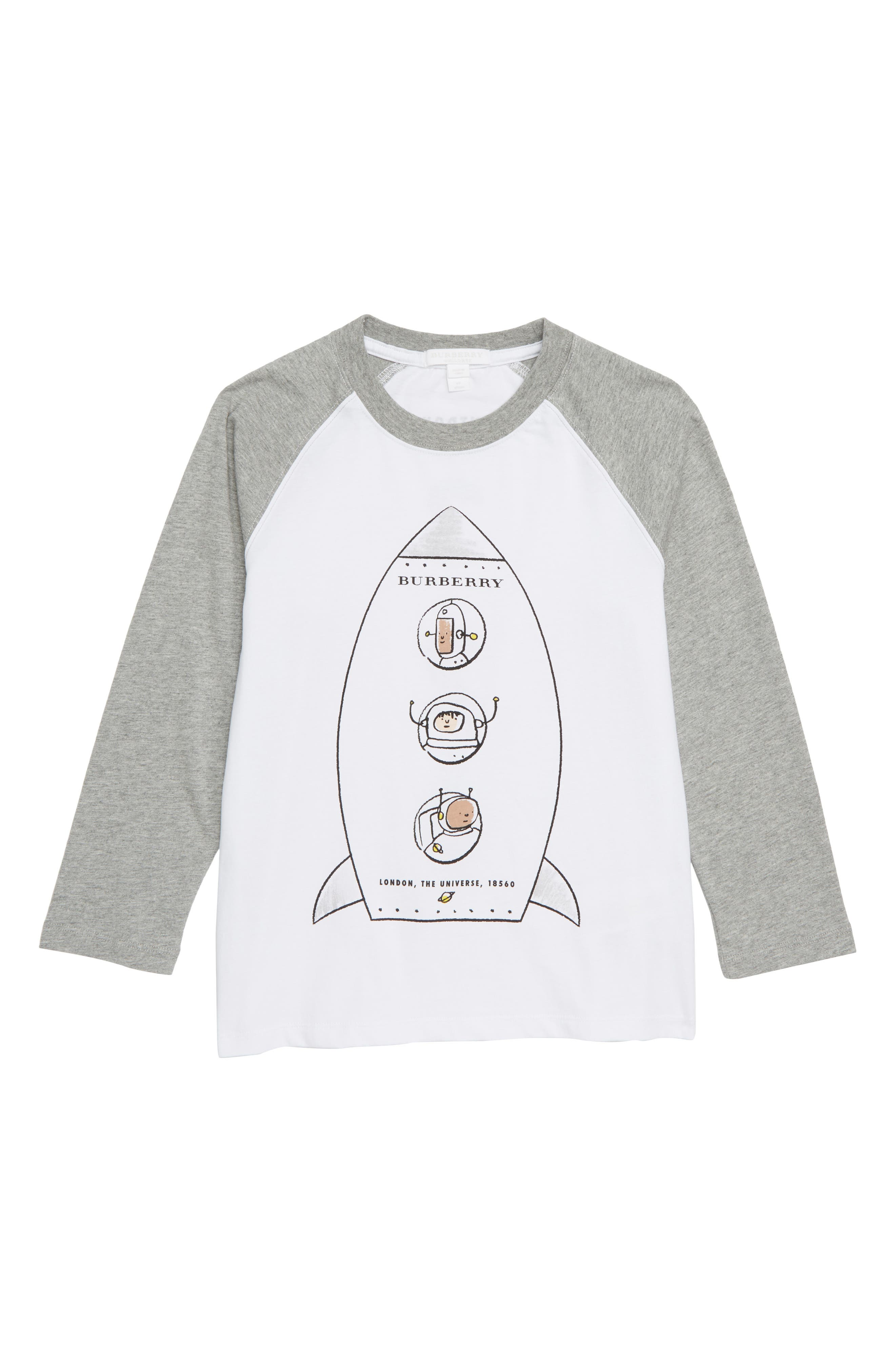 Rocket Graphic Basebell T-Shirt,                         Main,                         color, WHITE