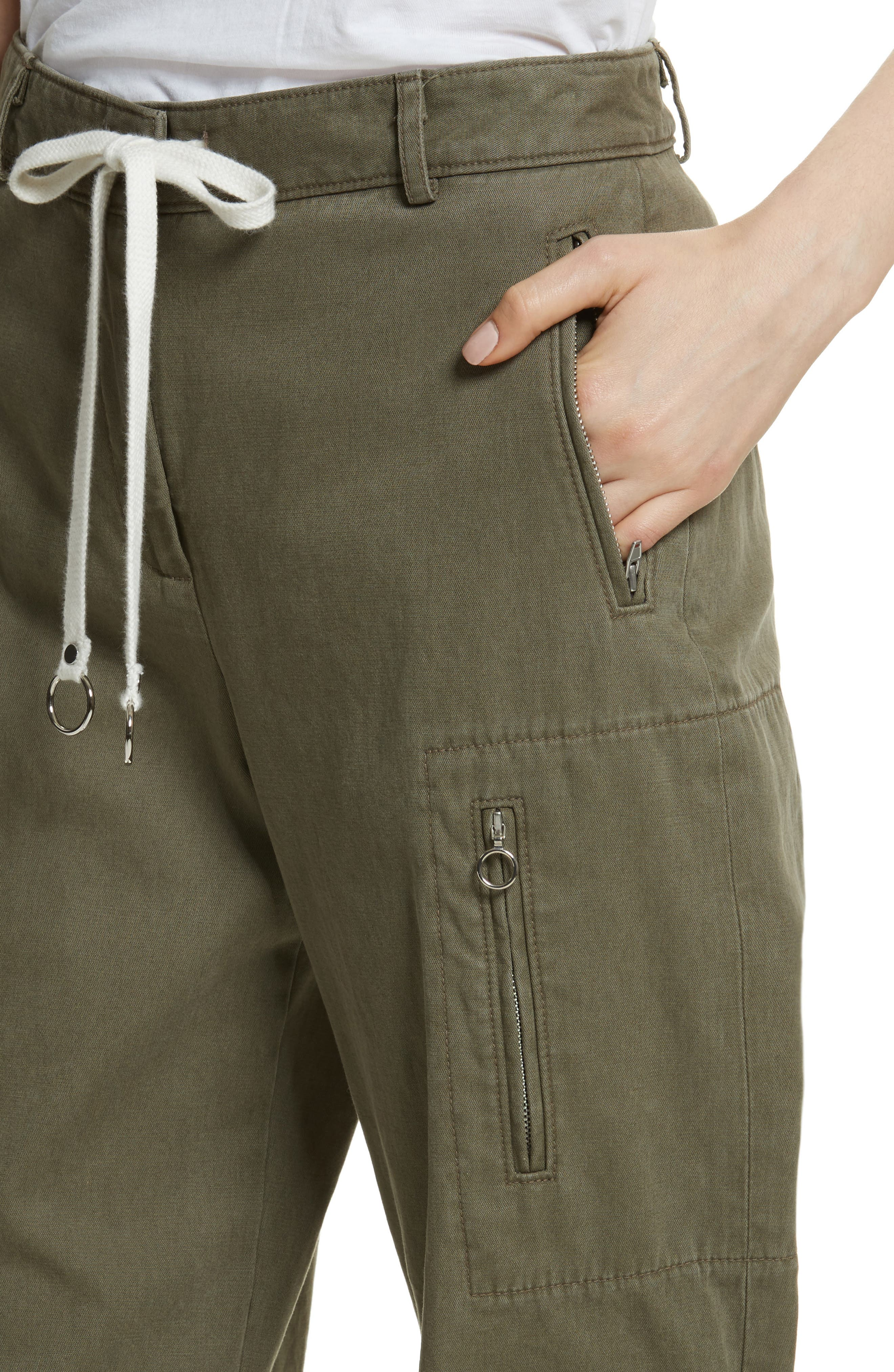 T by Alexander Wang Twill Cargo Pants,                             Alternate thumbnail 4, color,                             309
