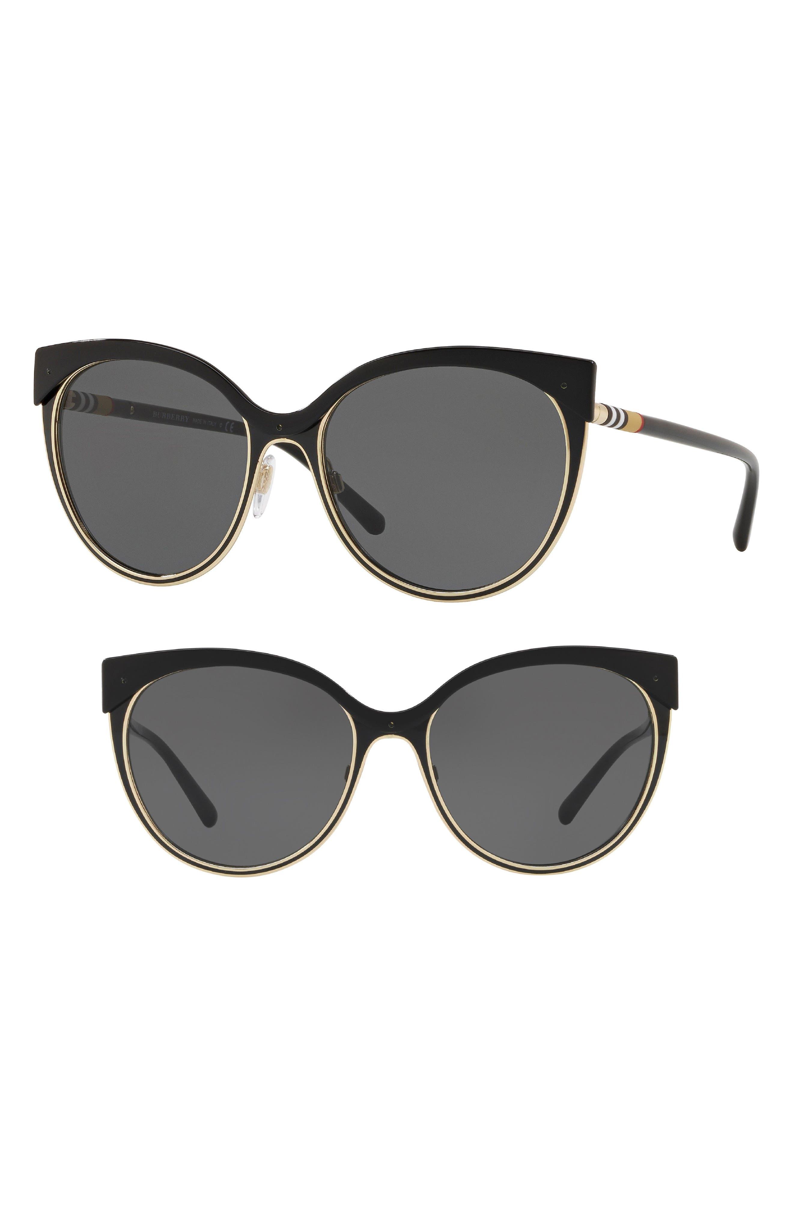 Heritage 55mm Cat Eye Sunglasses,                             Main thumbnail 1, color,                             713