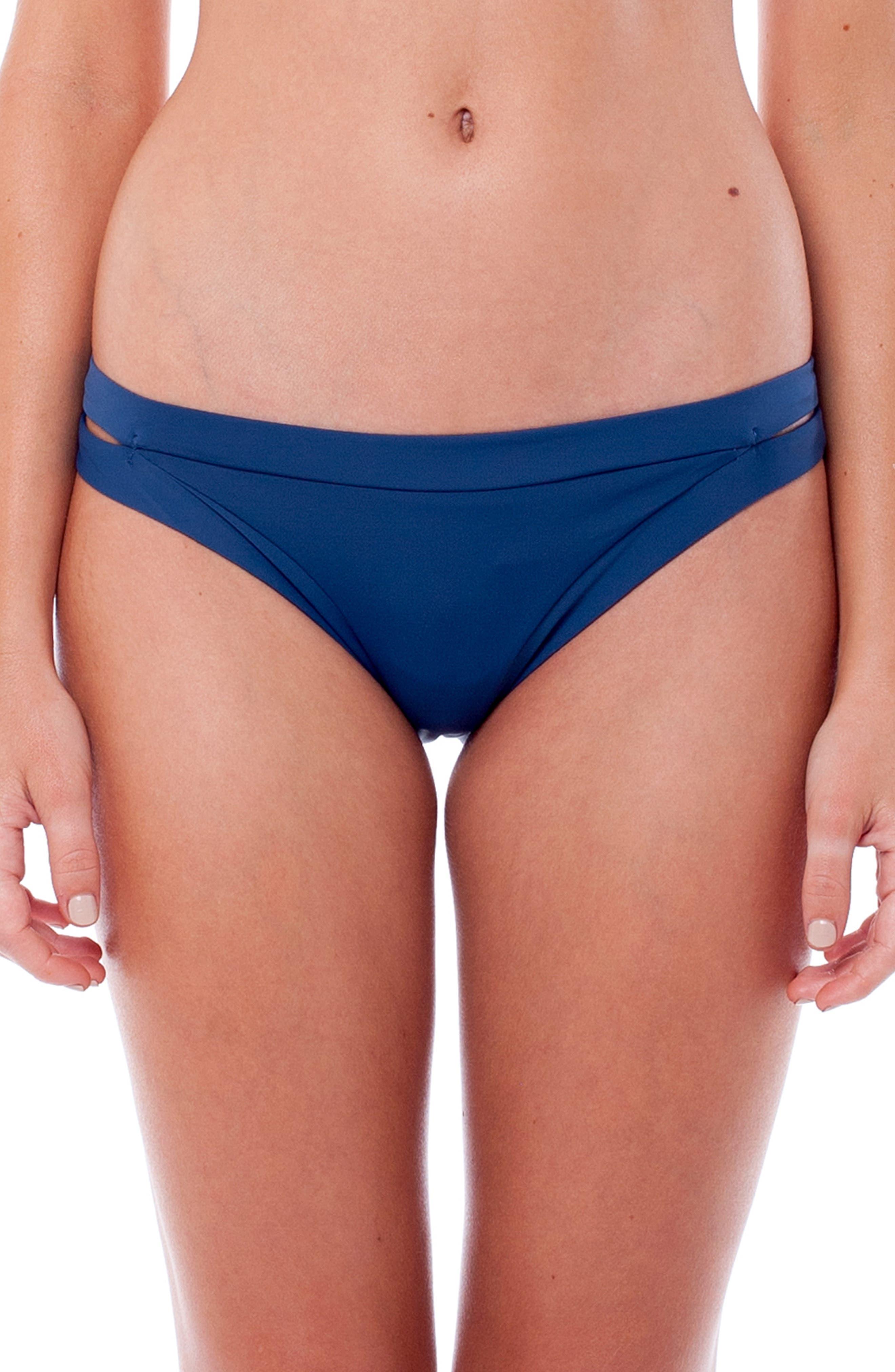 Sunchaser Bikini Bottoms,                             Main thumbnail 1, color,                             NAVY