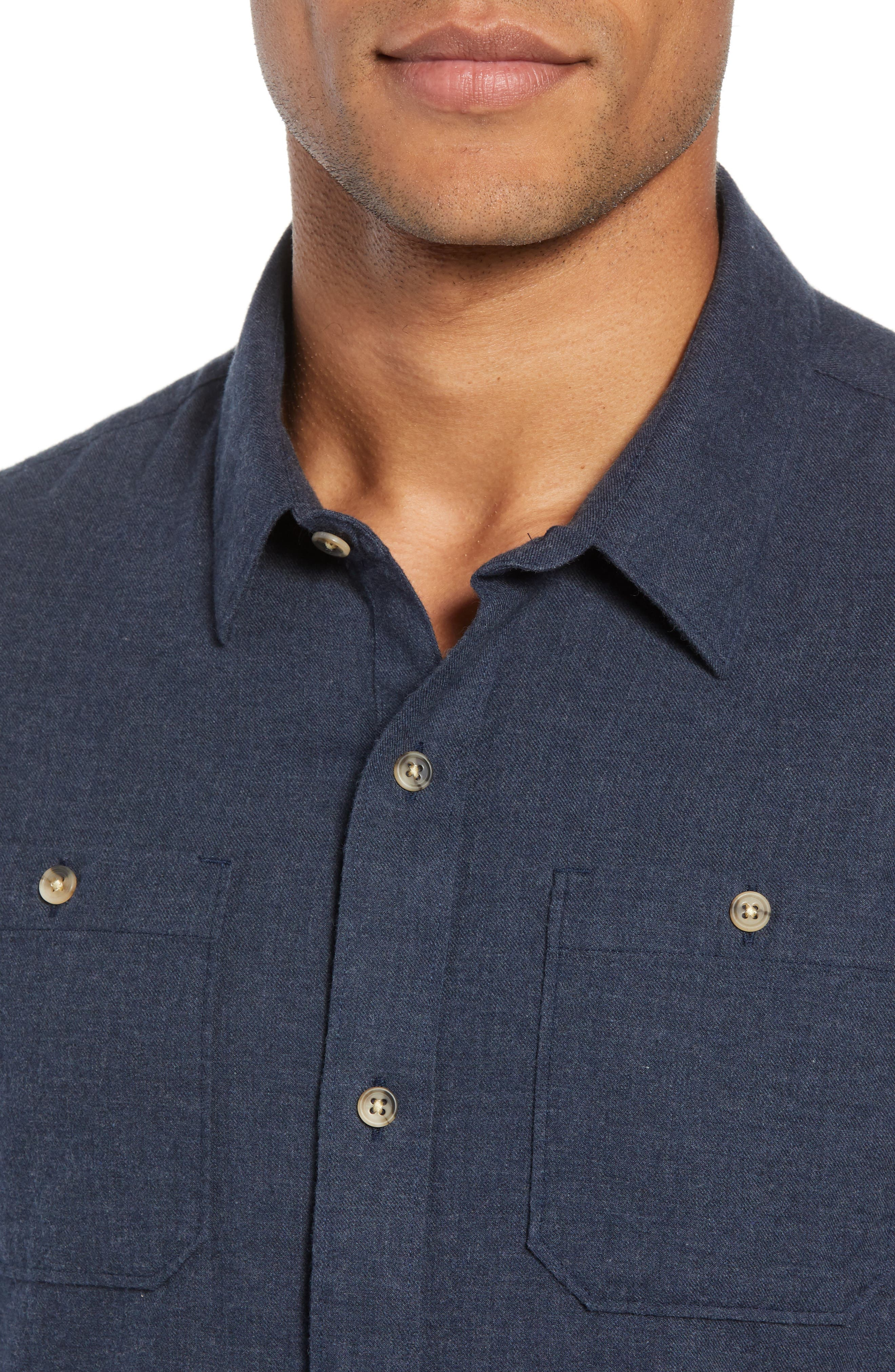 Hefe Regular Fit Flannel Sport Shirt,                             Alternate thumbnail 2, color,                             BLUE NIGHTS