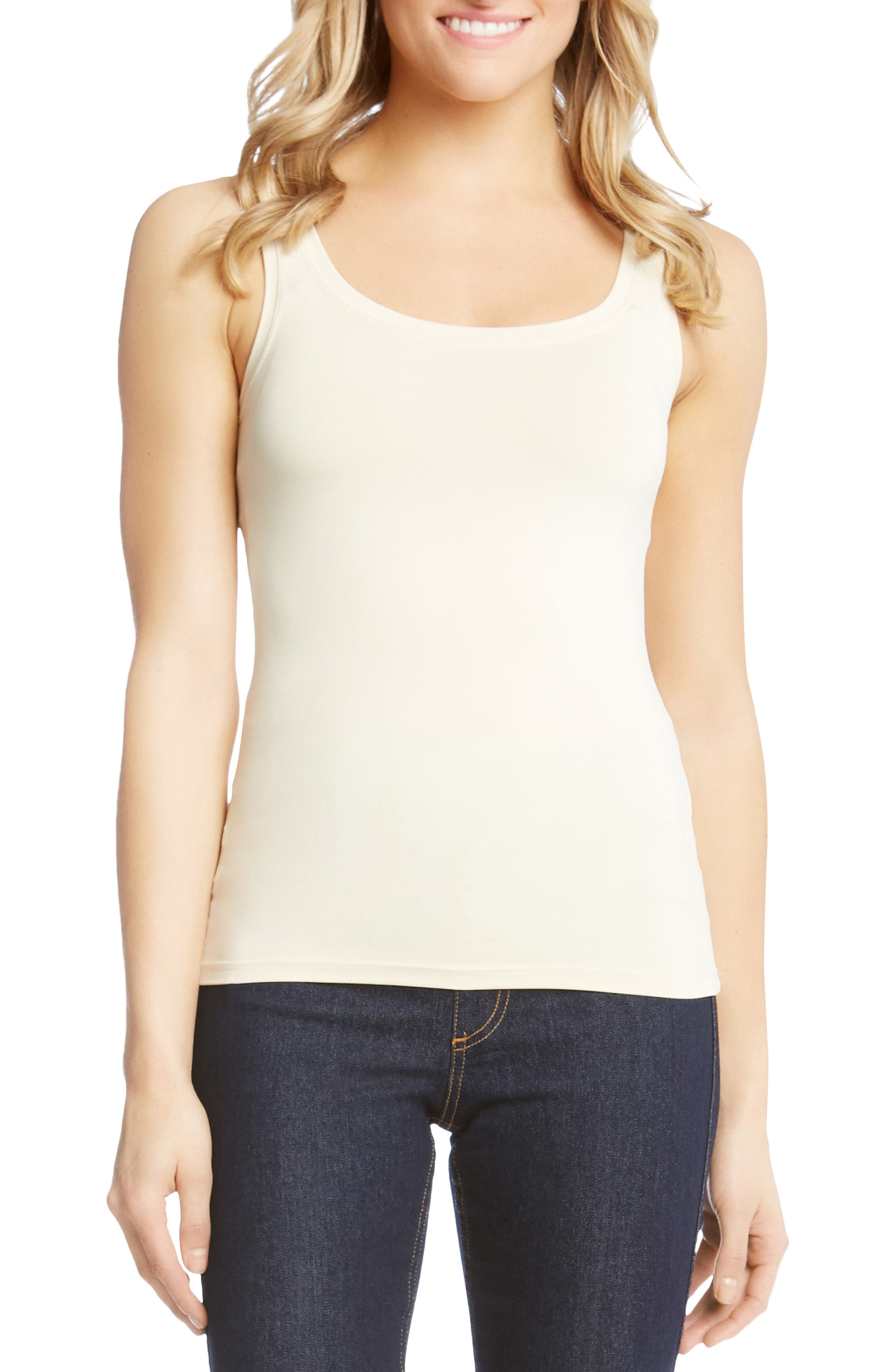 Supersoft Tank,                             Main thumbnail 1, color,                             CREAM