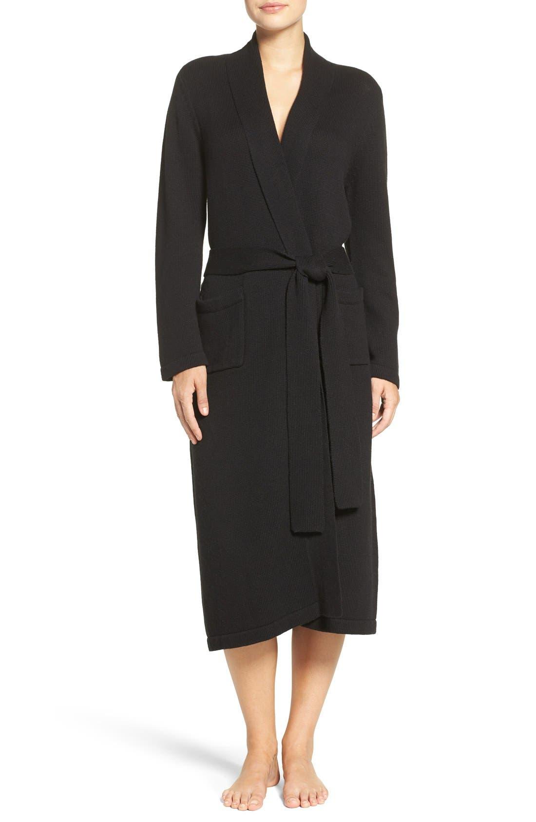 'Ballet' Knit Cotton Blend Robe,                         Main,                         color,