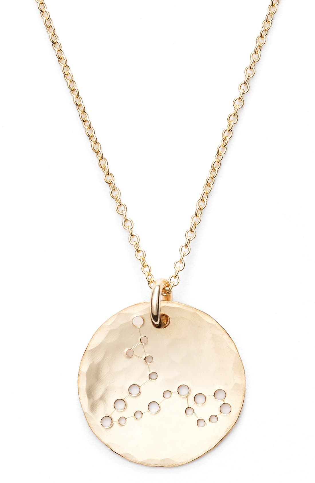 Ija 'Small Zodiac' 14k-Gold Fill Necklace,                             Alternate thumbnail 24, color,