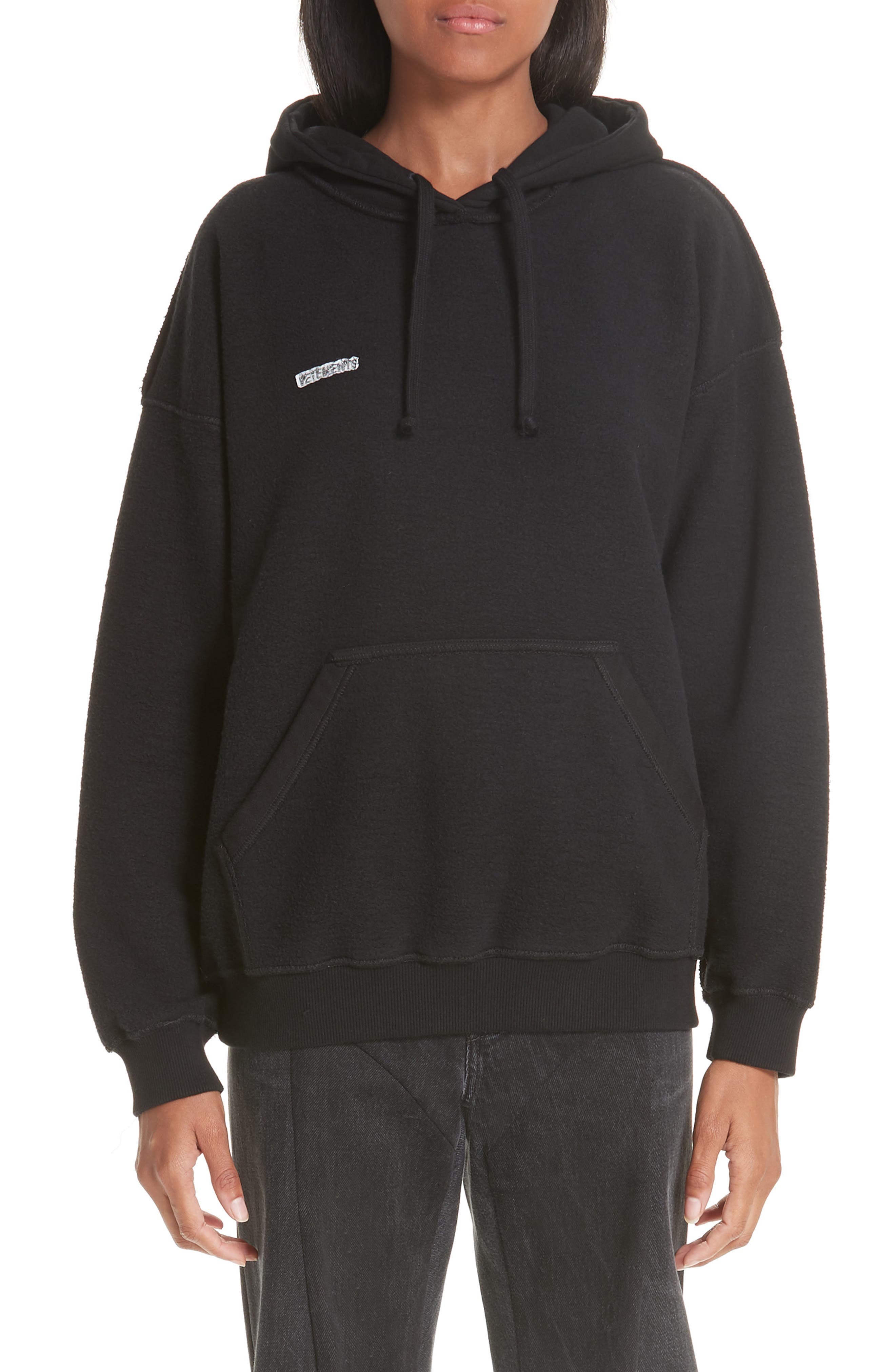 Inside-Out Hoodie,                             Main thumbnail 1, color,                             BLACK