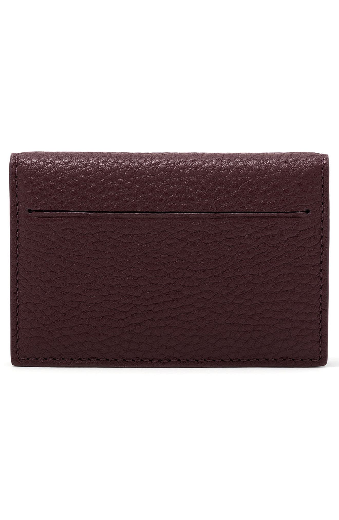 Accordion Leather Card Case,                             Alternate thumbnail 18, color,