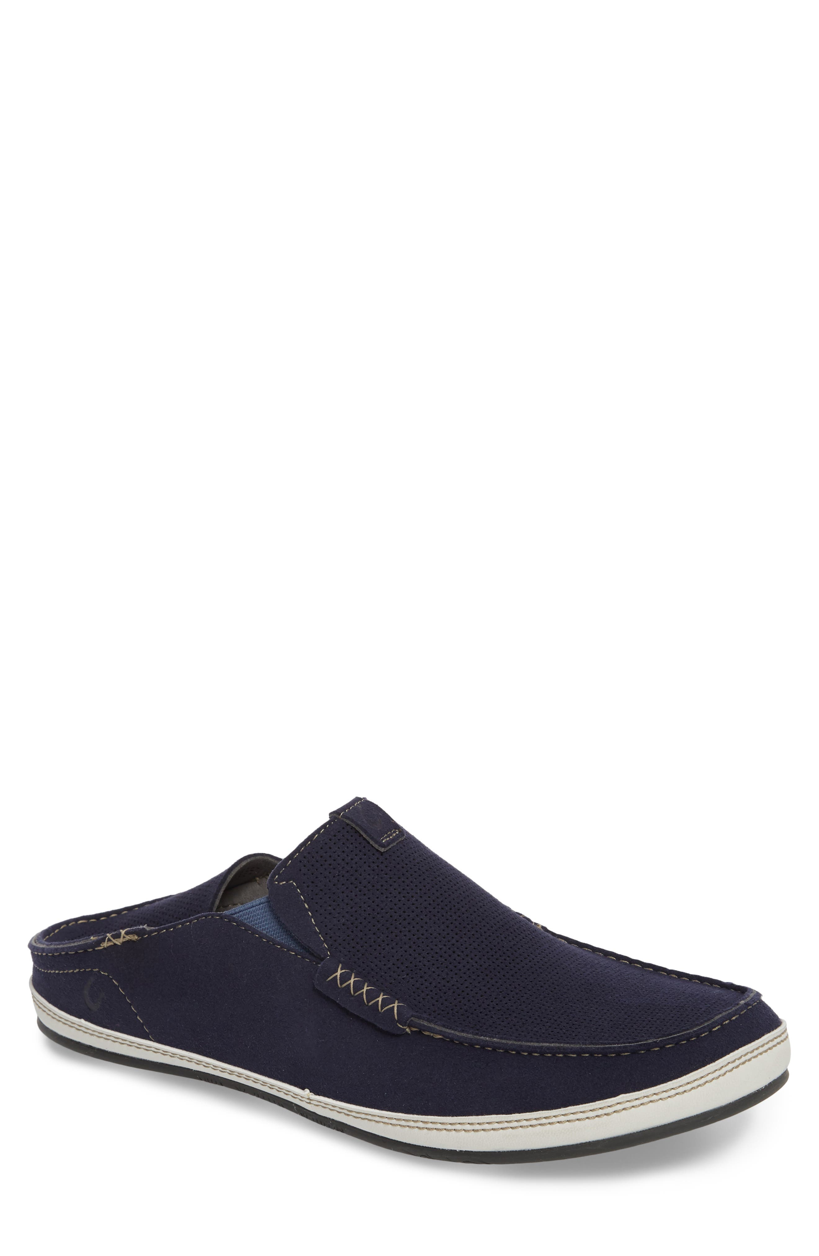 Kauwela Collapsible Slip-On,                         Main,                         color, TRENCH BLUE/ OFF WHITE