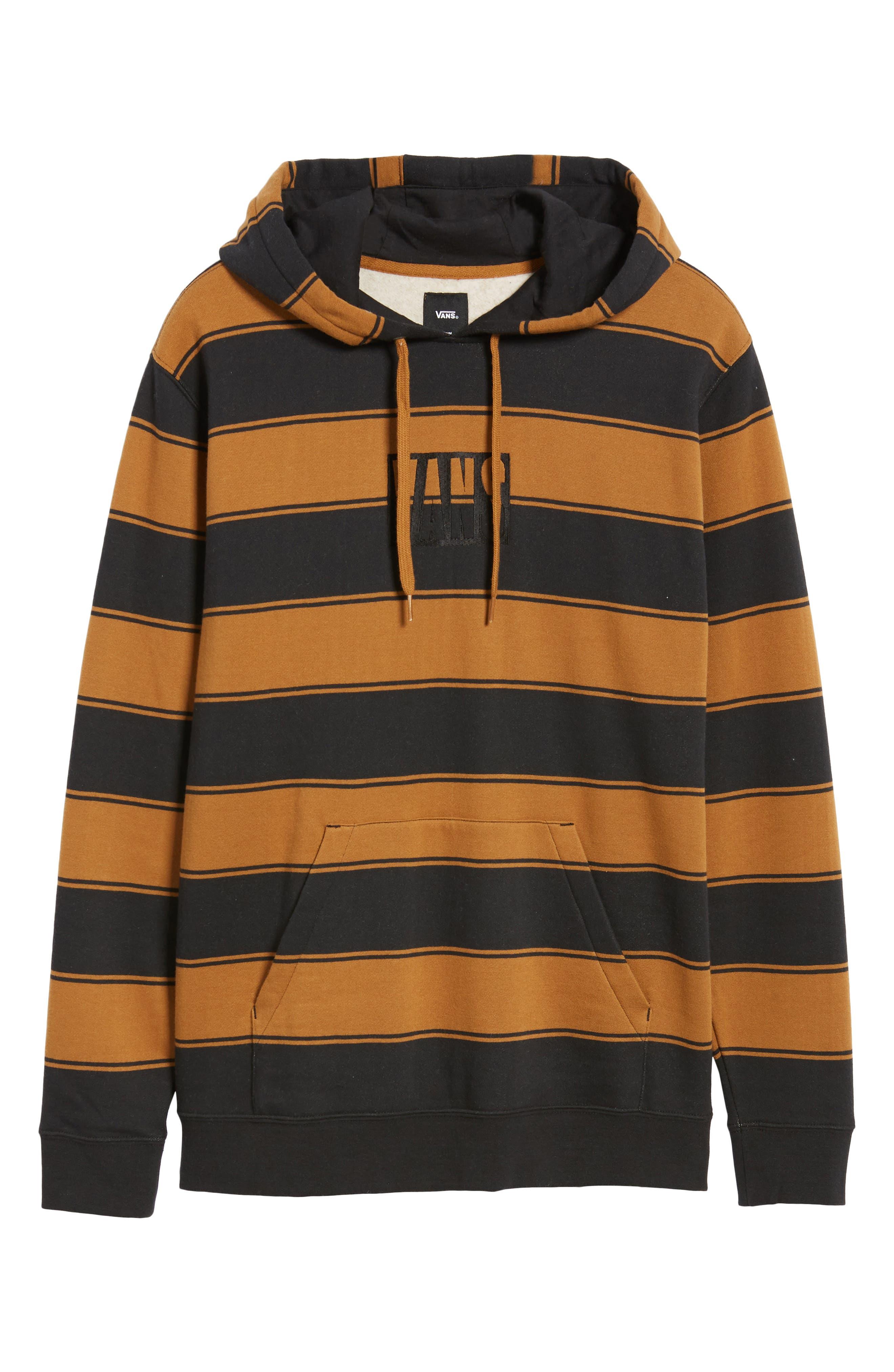 Tall Box Stripe Hoodie Sweatshirt,                             Alternate thumbnail 6, color,                             001