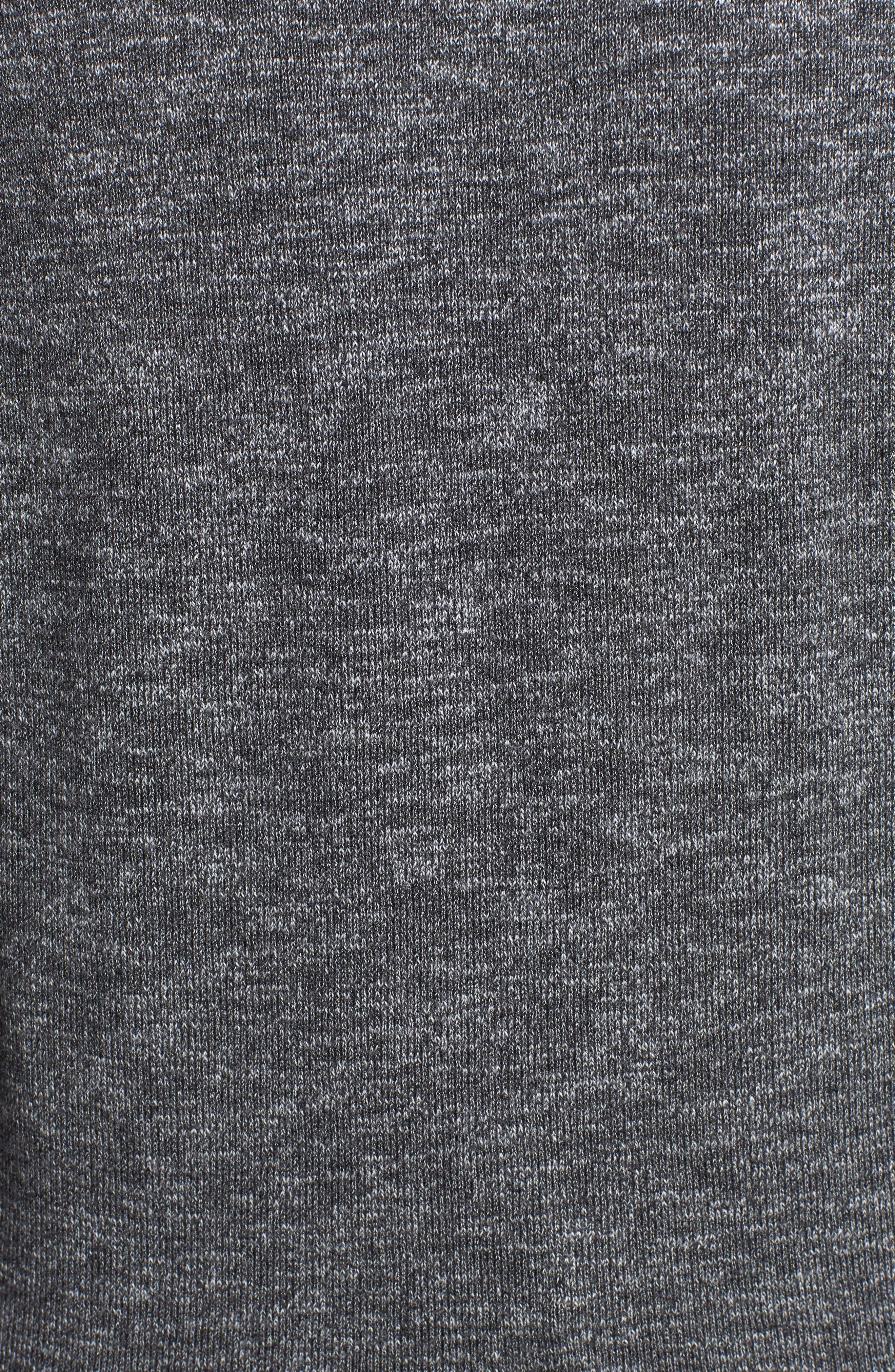 Sun Up Sun Down Flip Crewneck Sweater,                             Alternate thumbnail 6, color,                             CHARCOAL