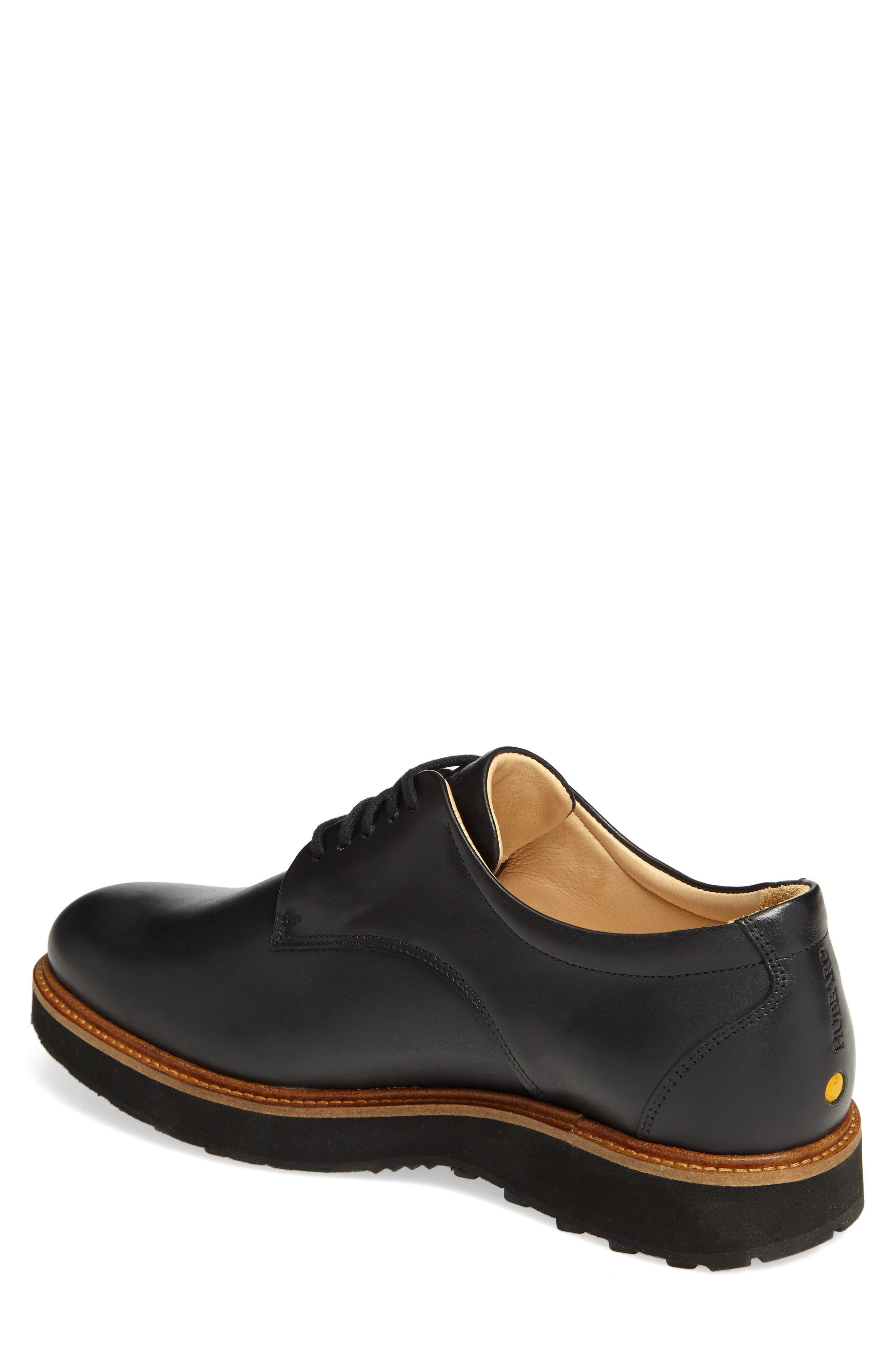 Rainy Day Founder Plain Toe Derby,                             Alternate thumbnail 2, color,                             BLACK LEATHER