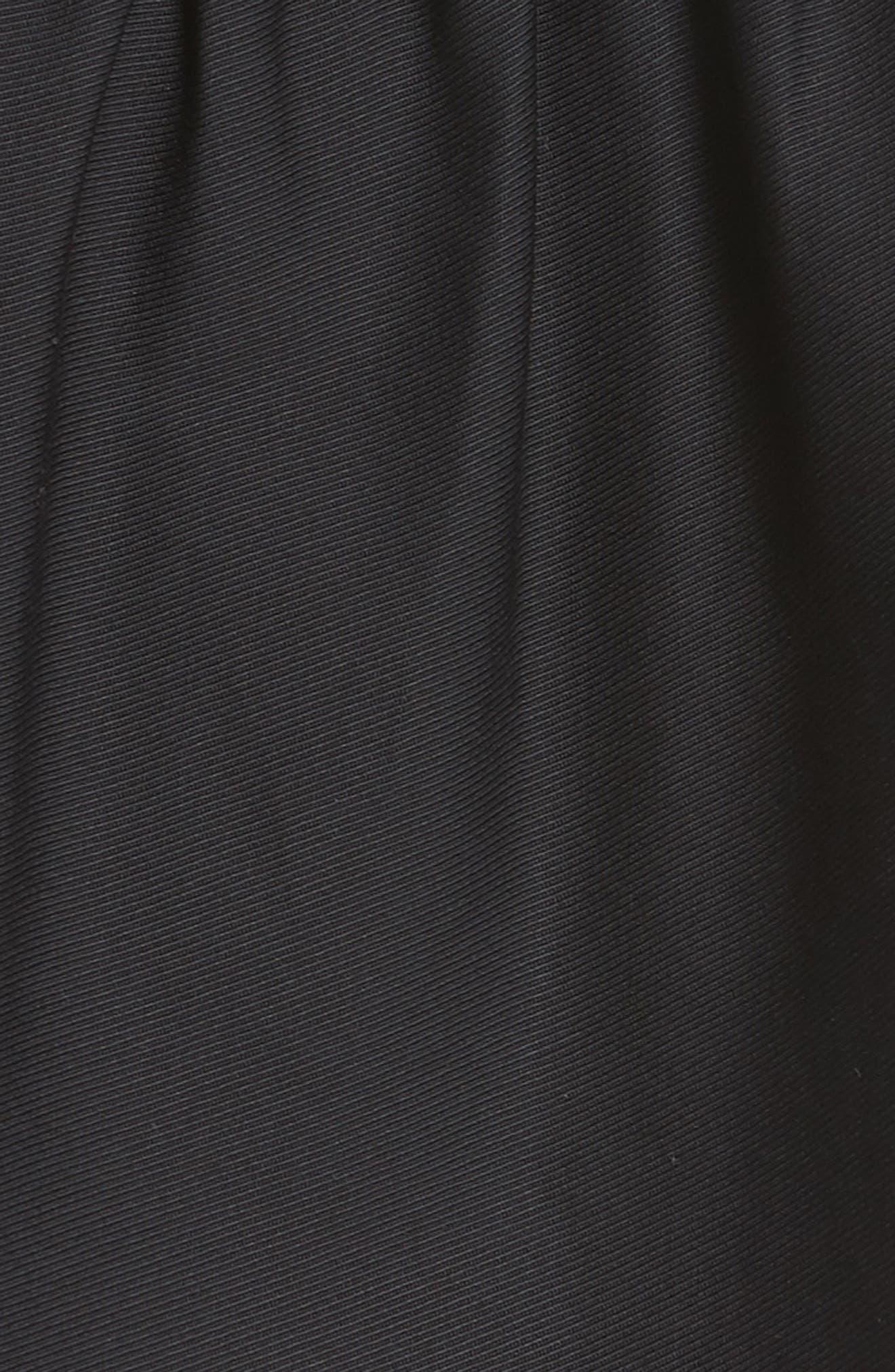 Anya Stretch Poplin Dress,                             Alternate thumbnail 5, color,                             001
