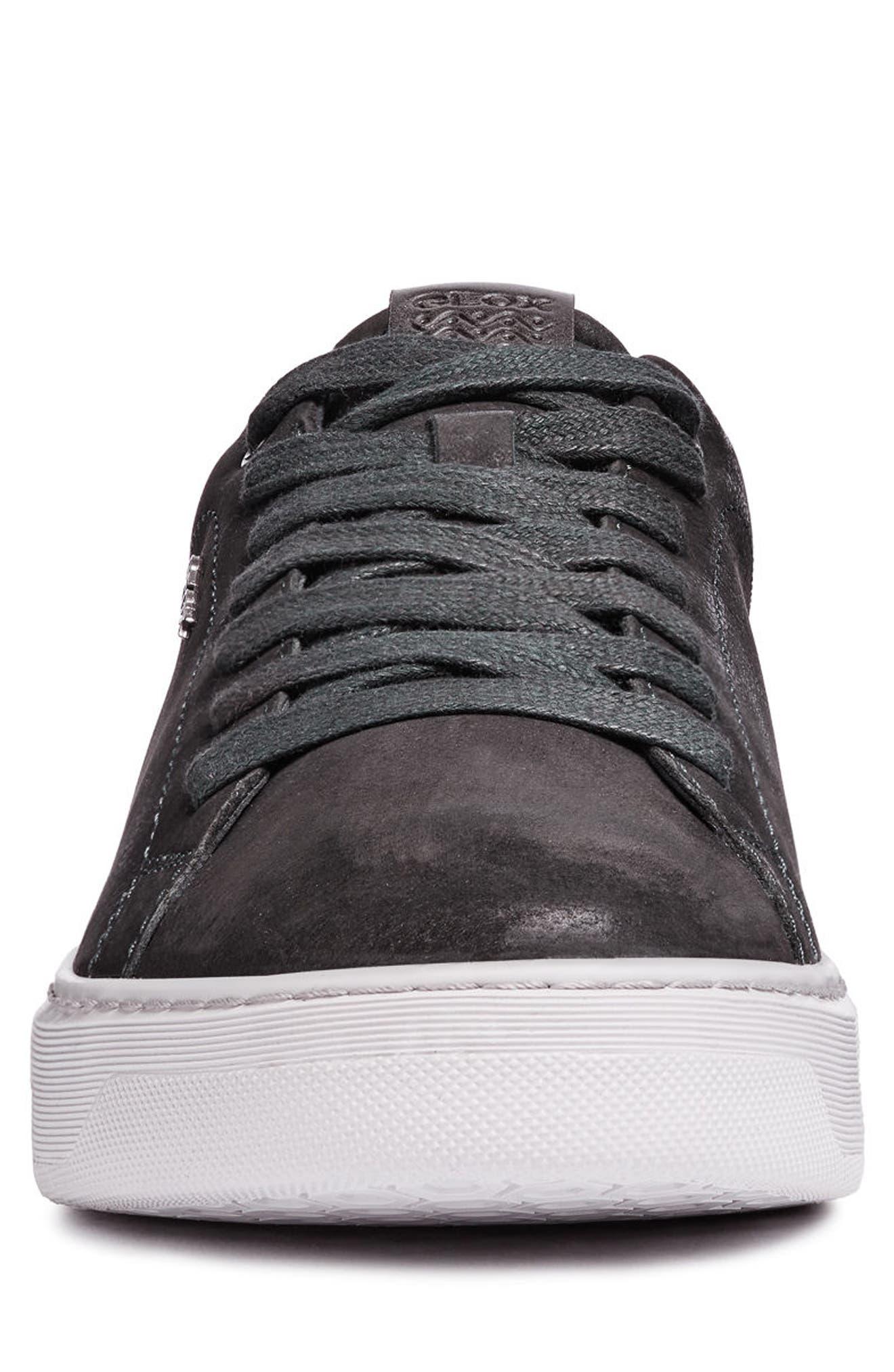 Deiven 5 Low Top Sneaker,                             Alternate thumbnail 4, color,                             DARK JEANS LEATHER