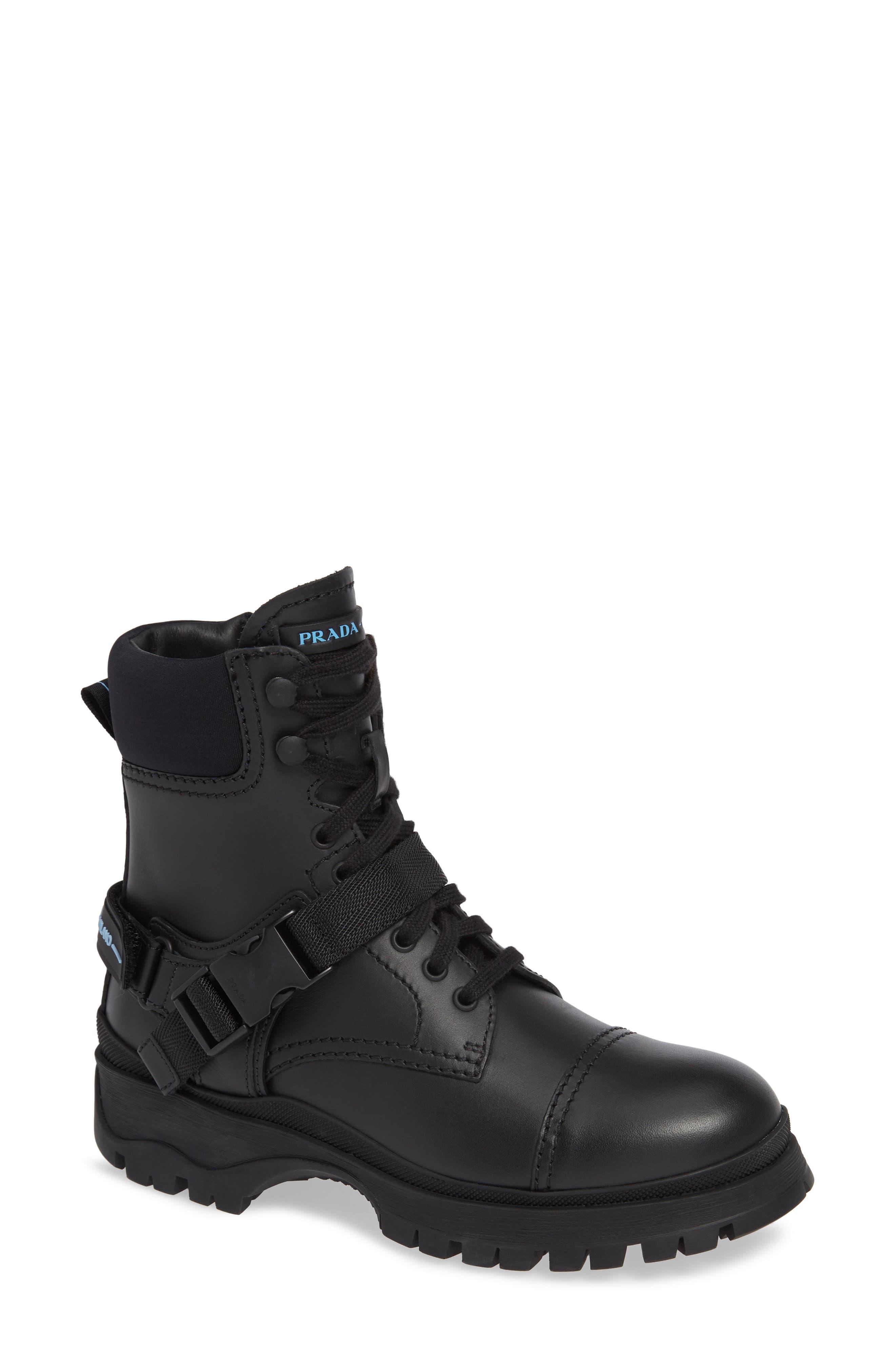 Clip Harness Rain Boot,                             Main thumbnail 1, color,                             BLACK