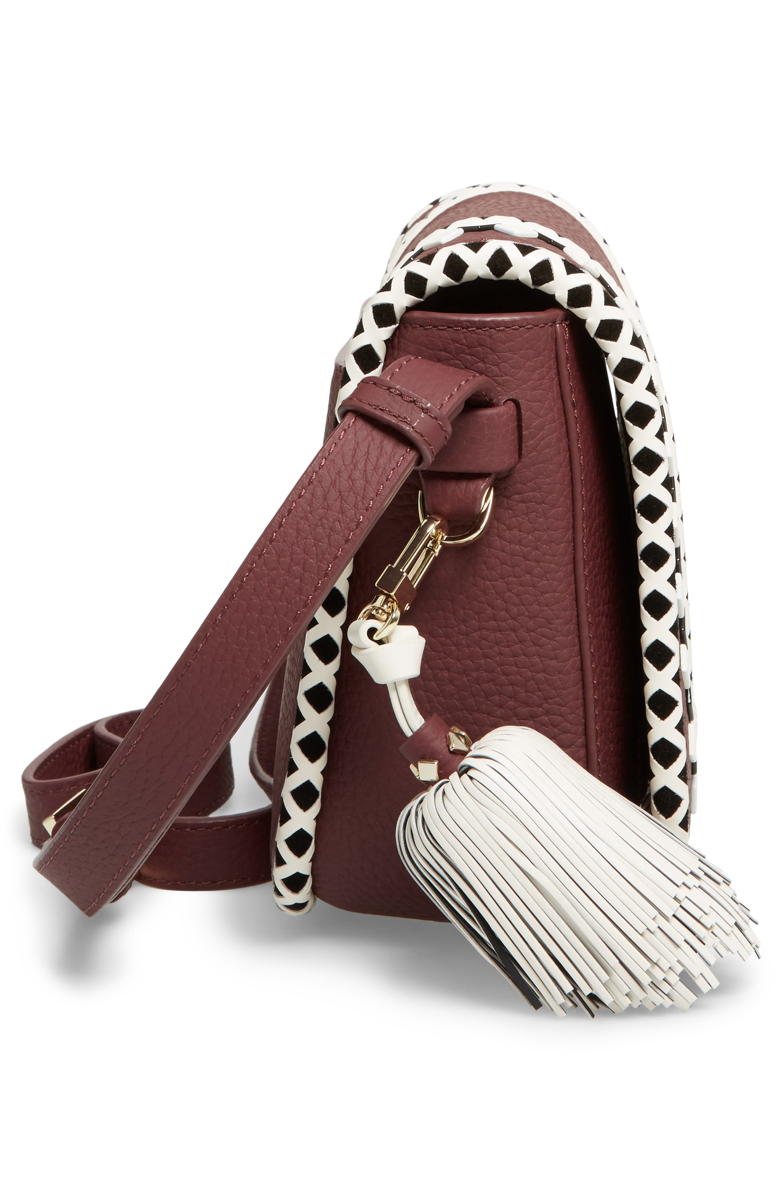 crown street - jasper leather saddle bag,                             Alternate thumbnail 10, color,
