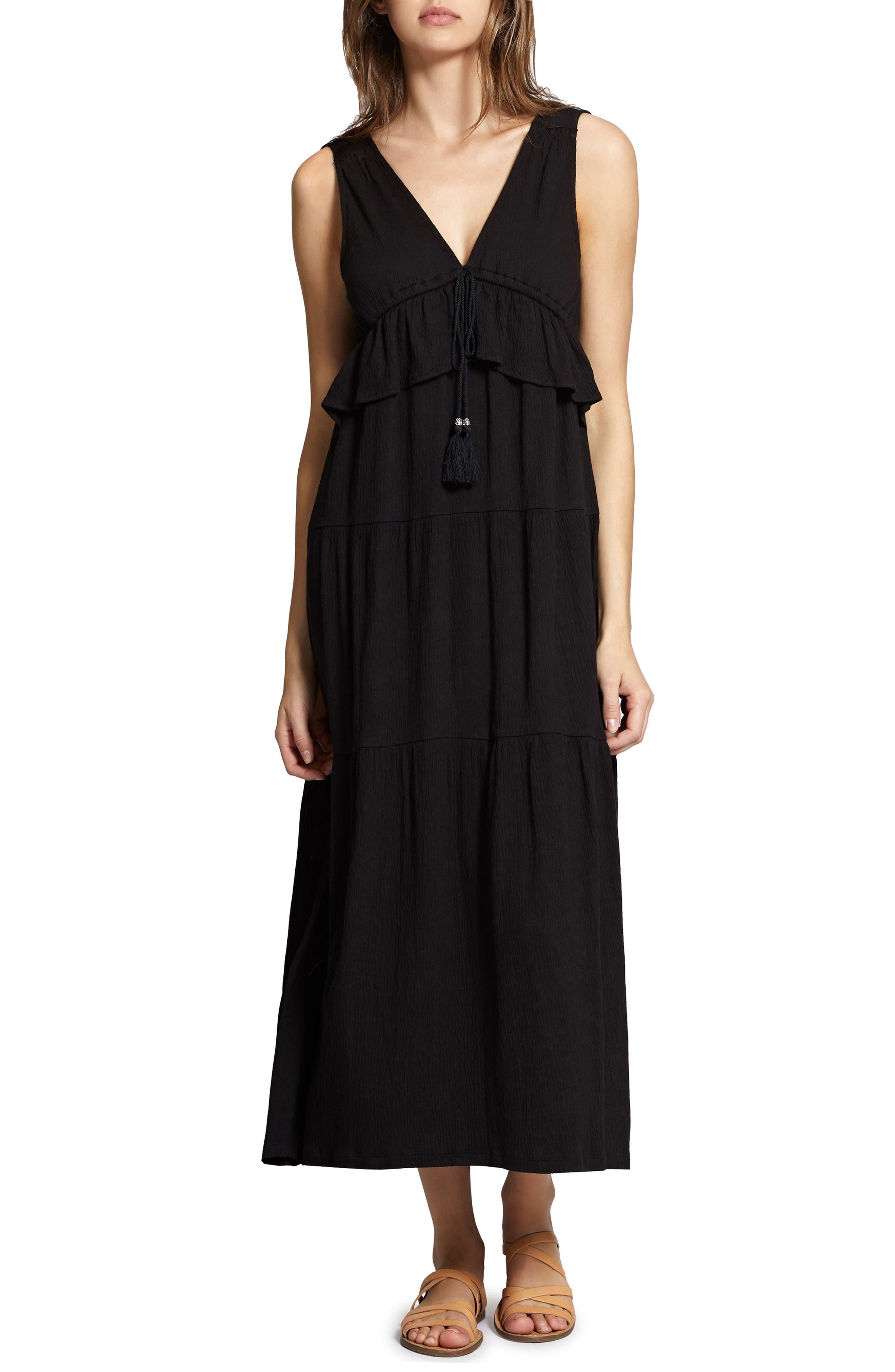 Delphina Tiered Maxi Dress,                             Main thumbnail 1, color,                             001