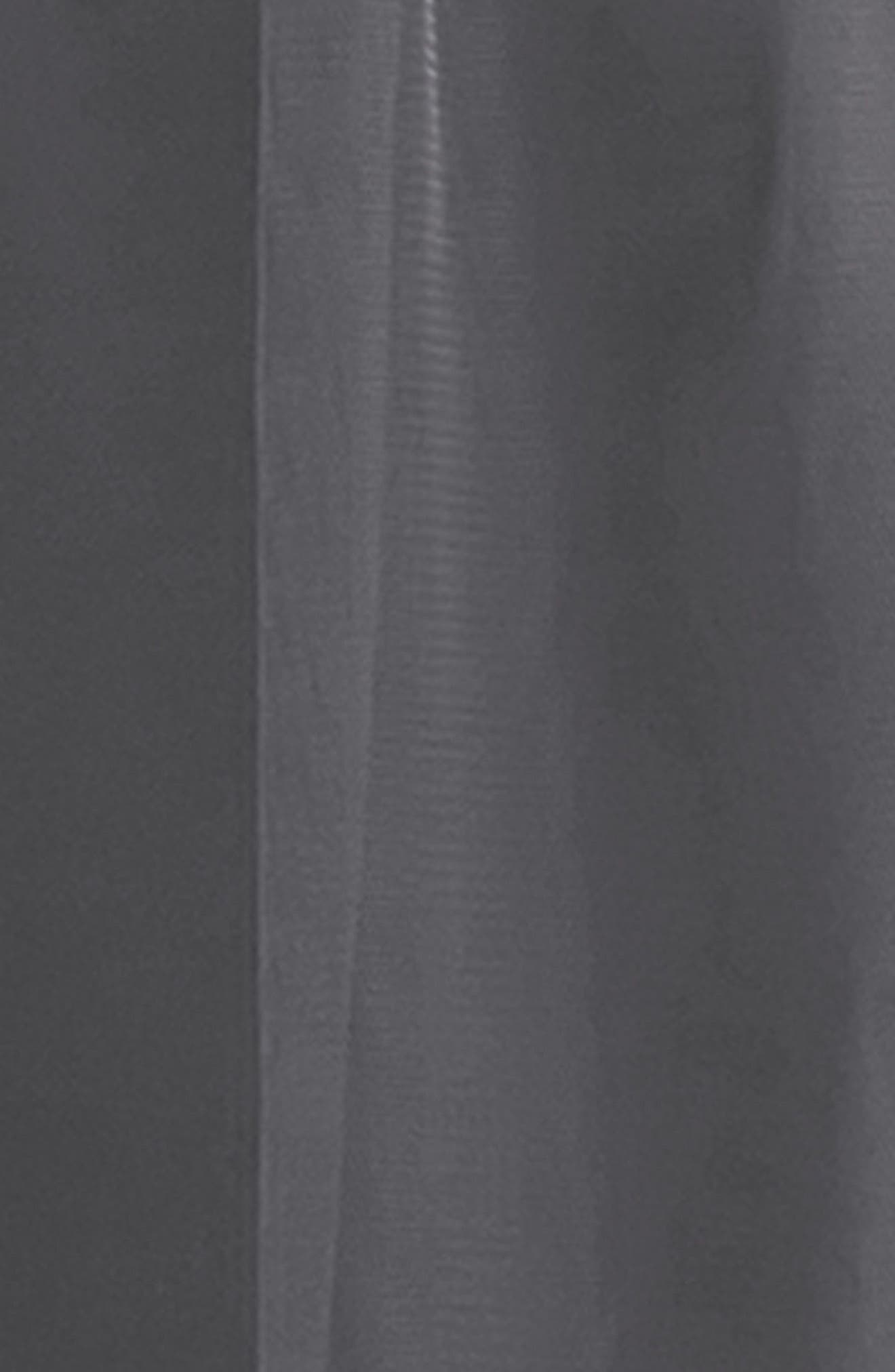 #LEVKOFF,                             Crisscross Strap English Net A-Line Gown,                             Alternate thumbnail 3, color,                             PEWTER