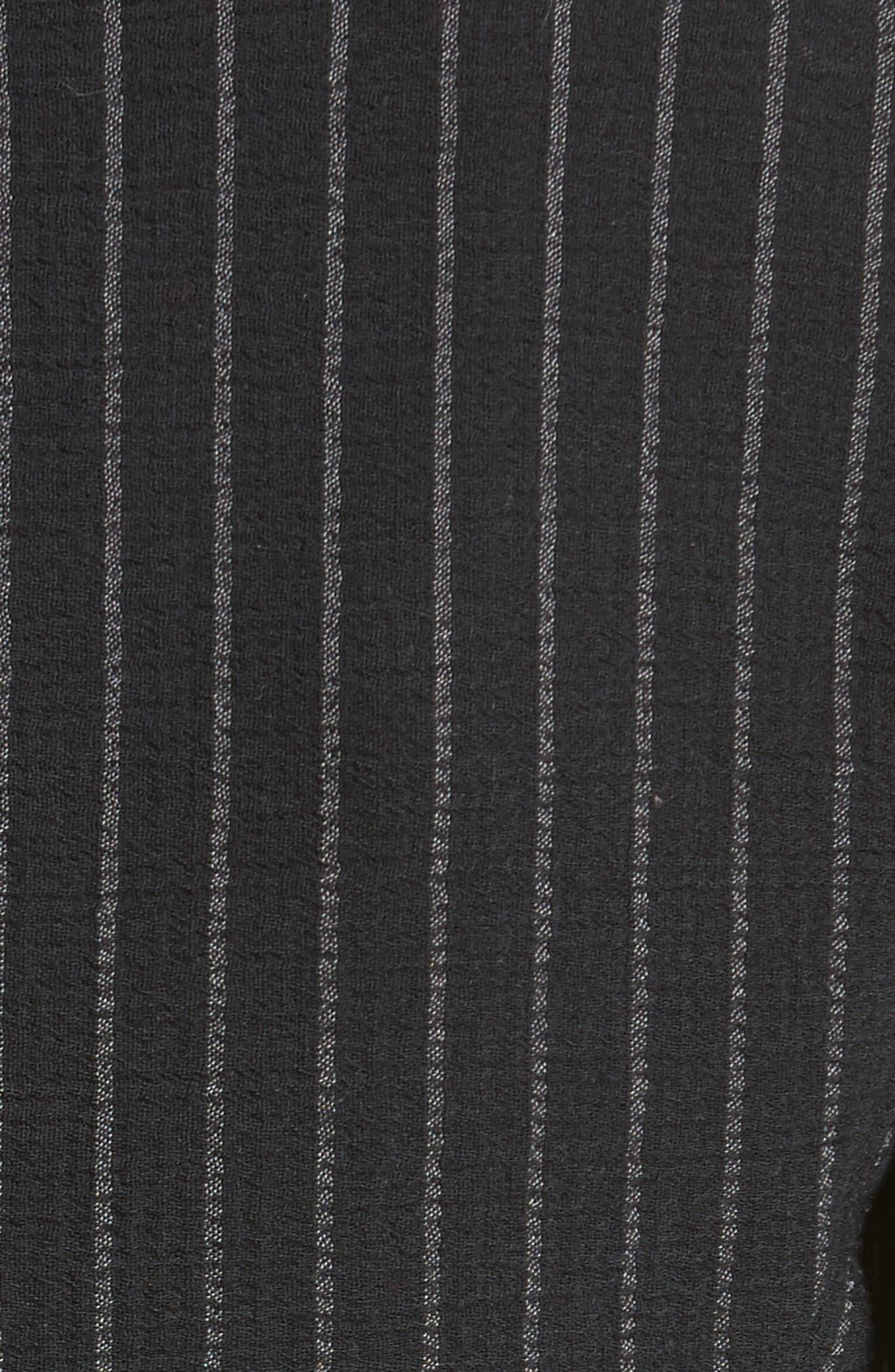 Stretch Wool Pinstripe Jacket,                             Alternate thumbnail 6, color,                             001