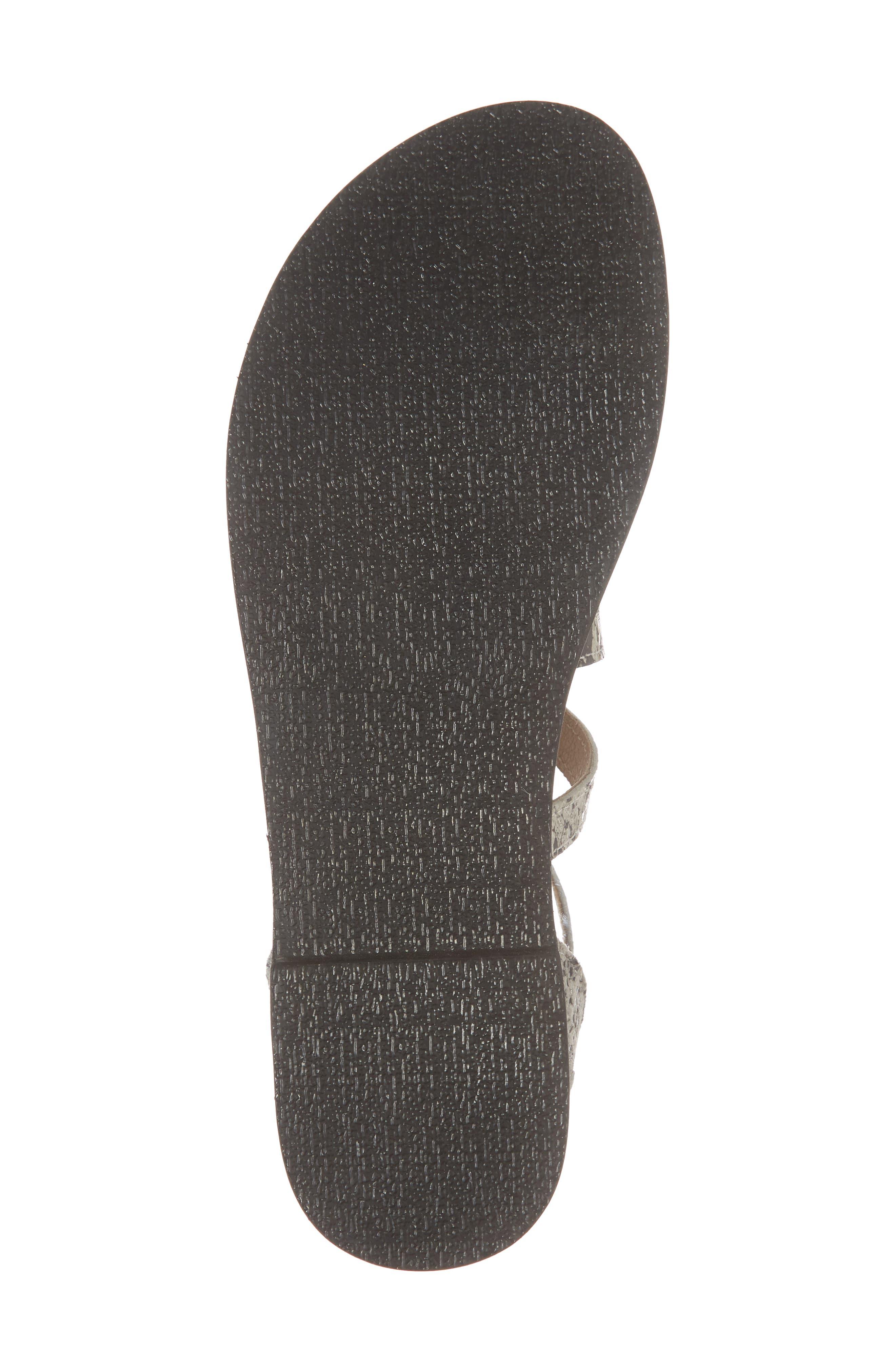 Strappy Sandal,                             Alternate thumbnail 6, color,                             BLACK SNAKE LEATHER