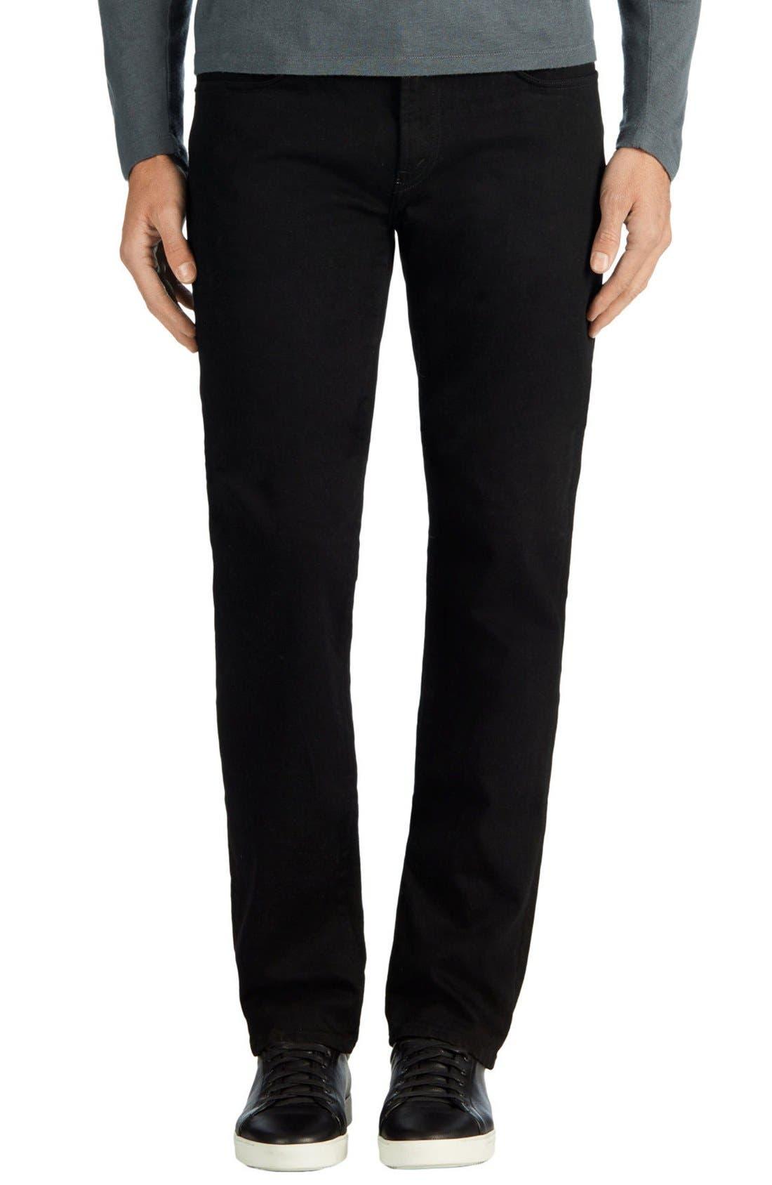 Kane Slim Straight Leg Jeans,                             Alternate thumbnail 8, color,                             TRIVOR BLACK