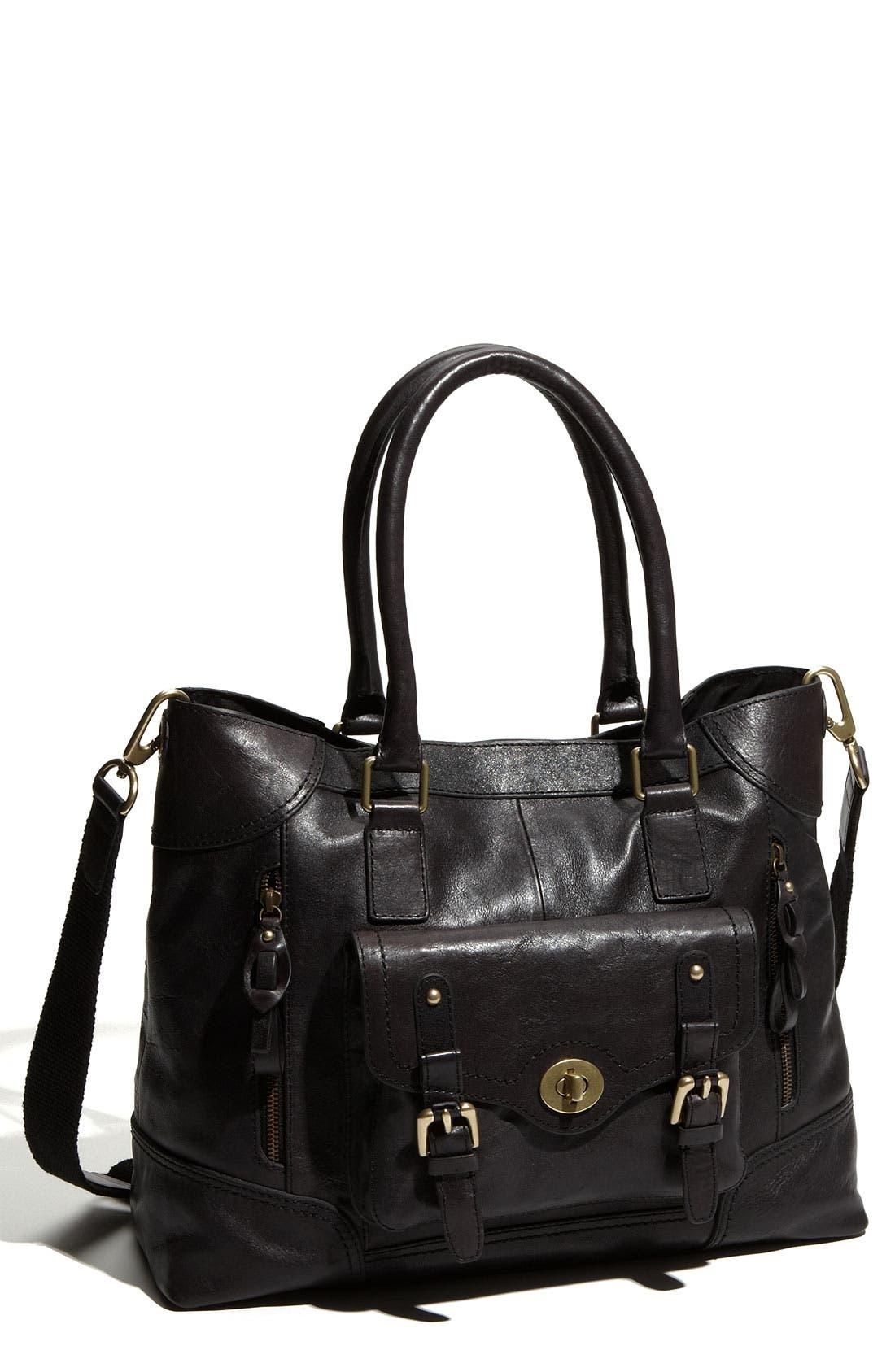 Turnlock Tote Bag, Main, color, 001