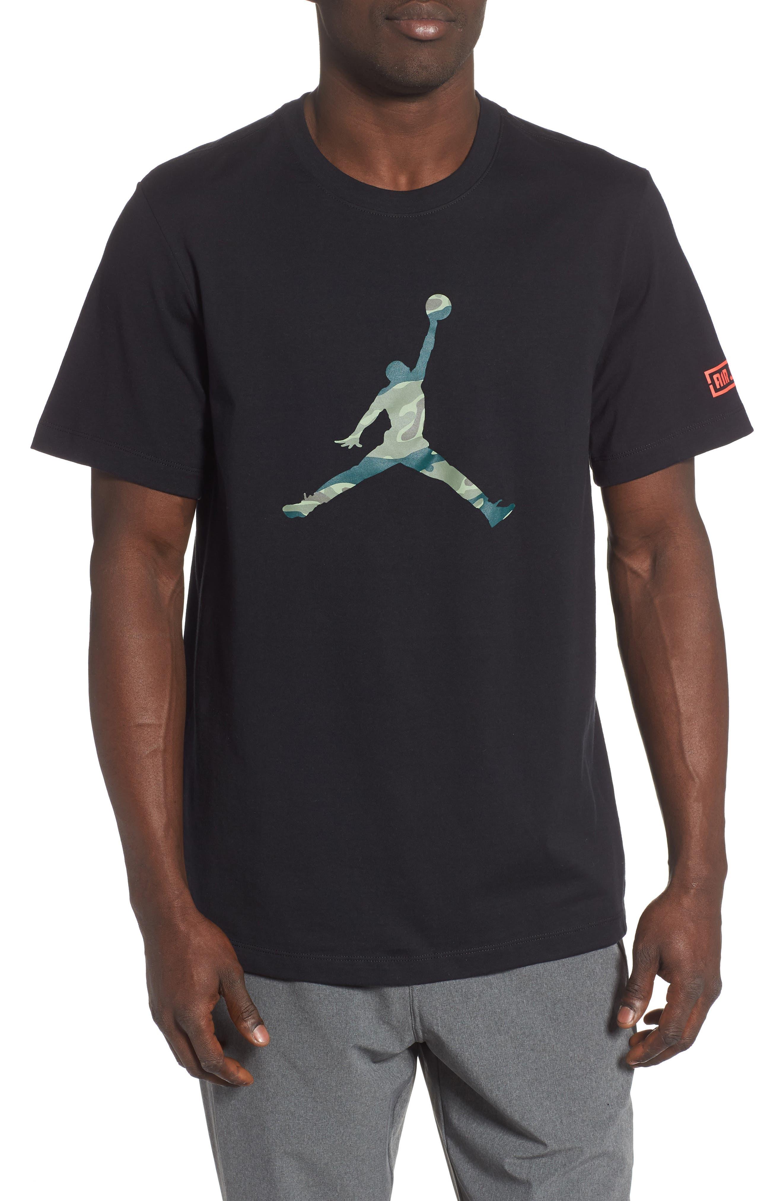 Jordan Camo Jumpman T-Shirt, Black