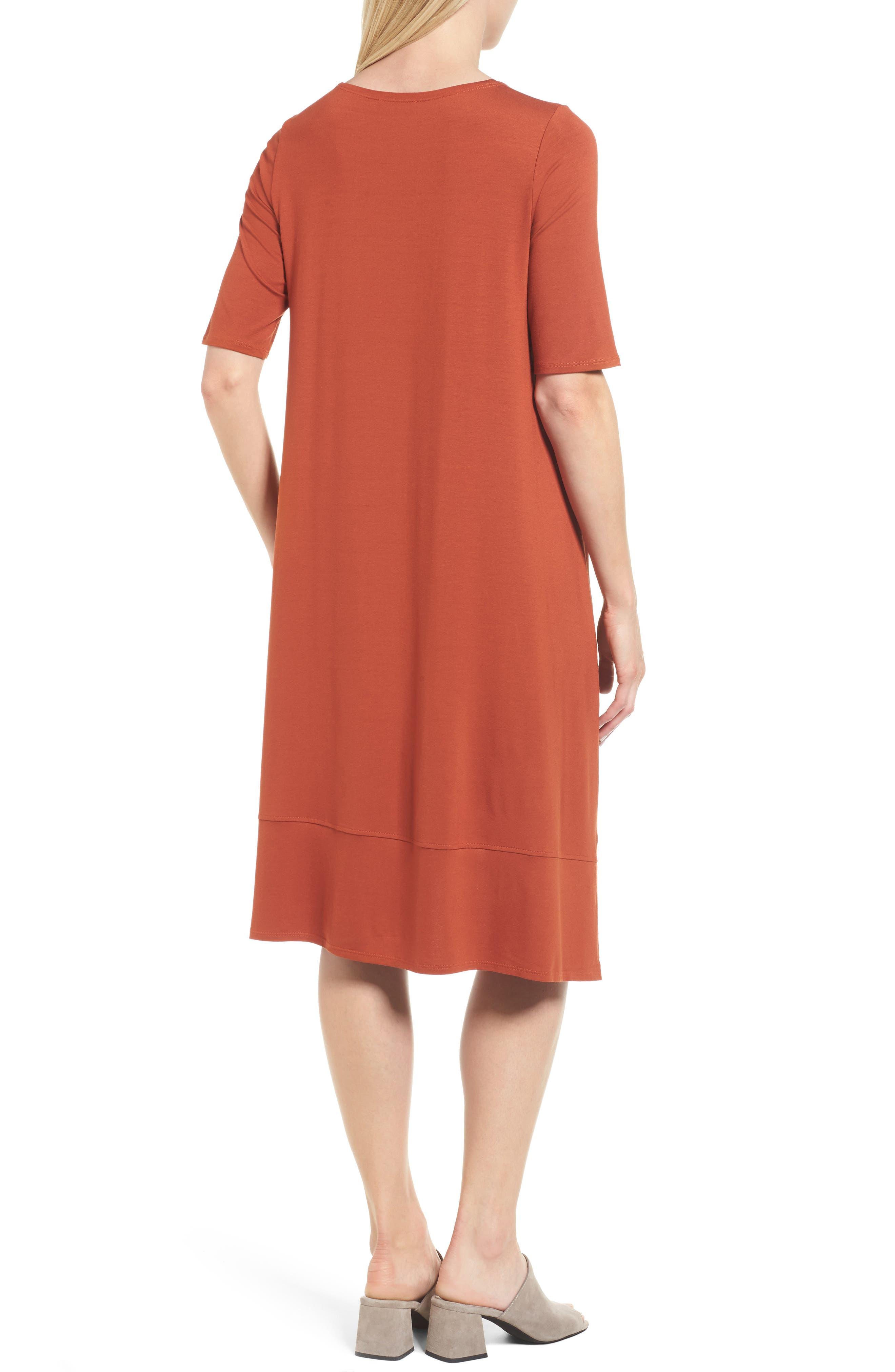 Jersey Asymmetrical A-Line Dress,                             Alternate thumbnail 10, color,